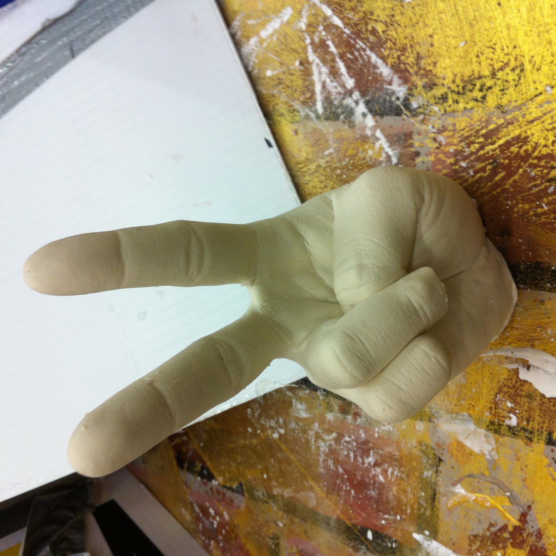 Molding & Casting Project - Plaster hand
