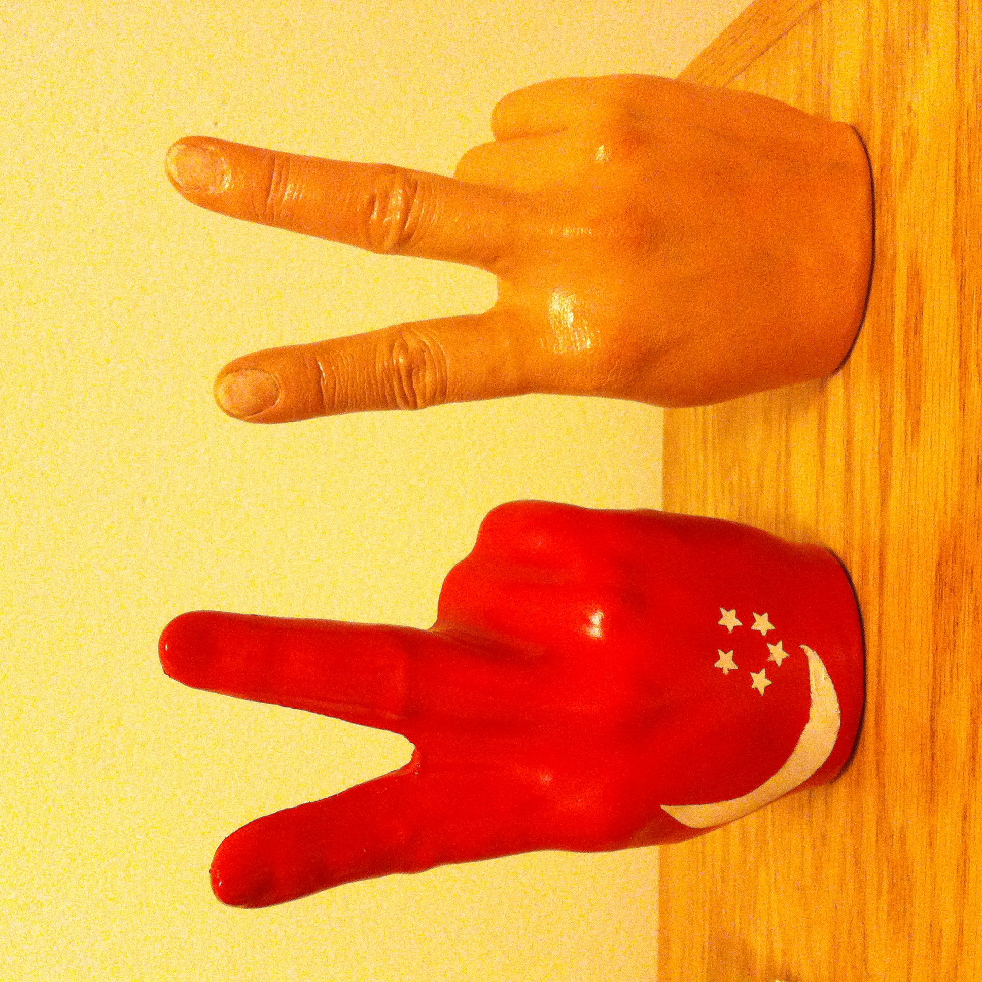 Molding & Casting Project - Plastic & plaster hands