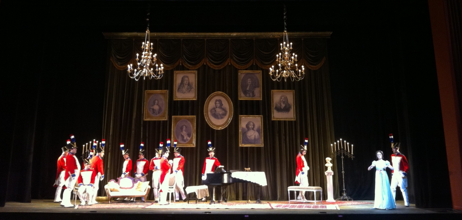 Act II: The regiment pays Marie a surprise visit