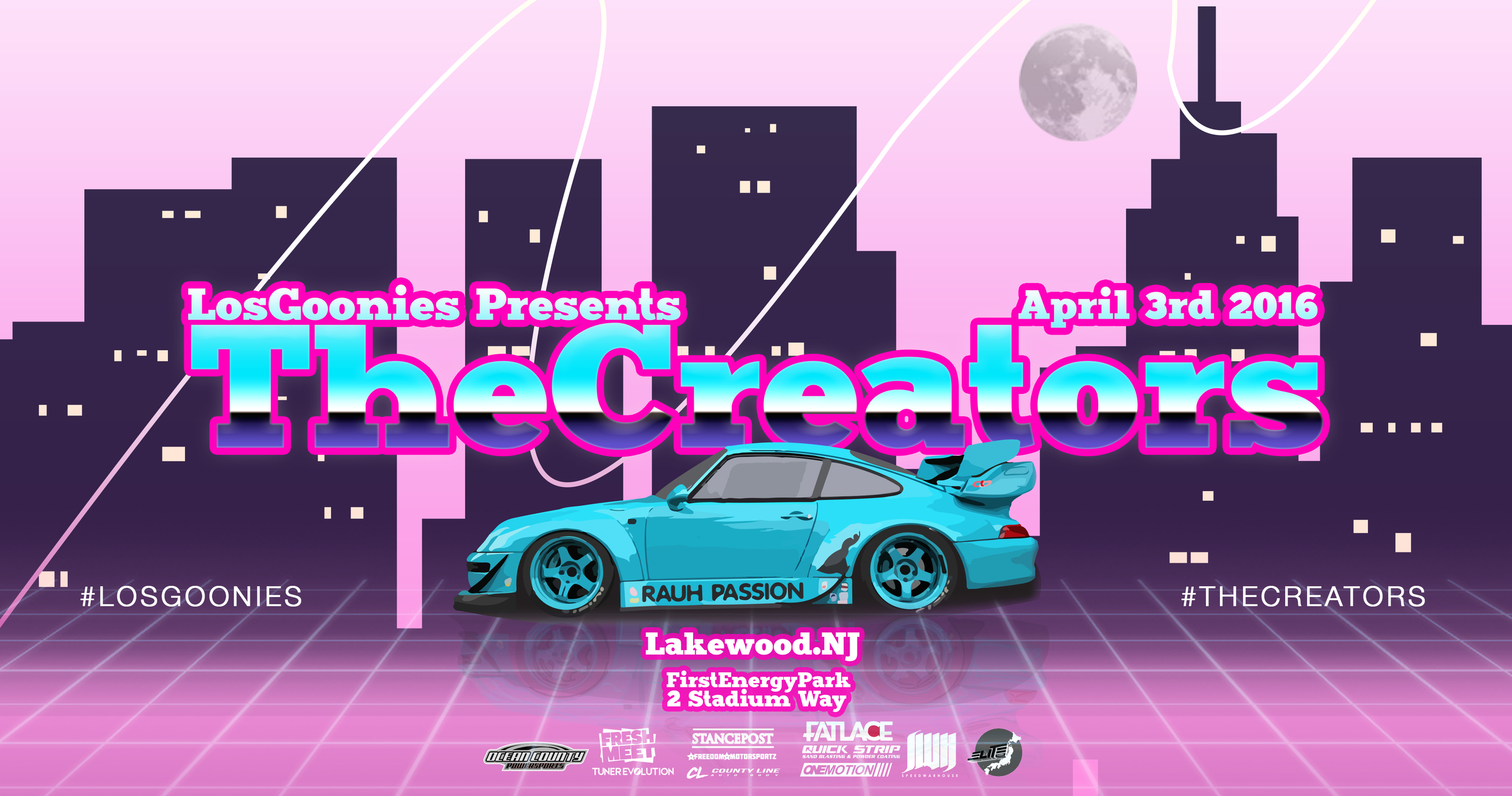 Flyer design for automotive art showcase