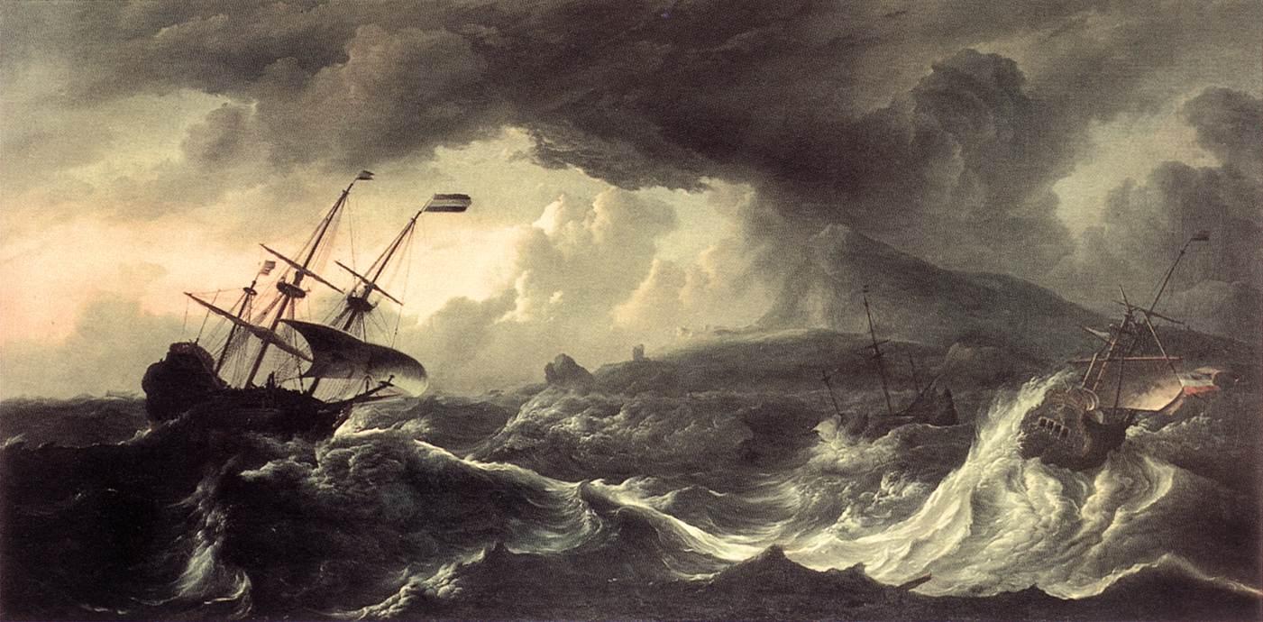 Ships Running, Ludolf Bakhuizen, 1690-tal.