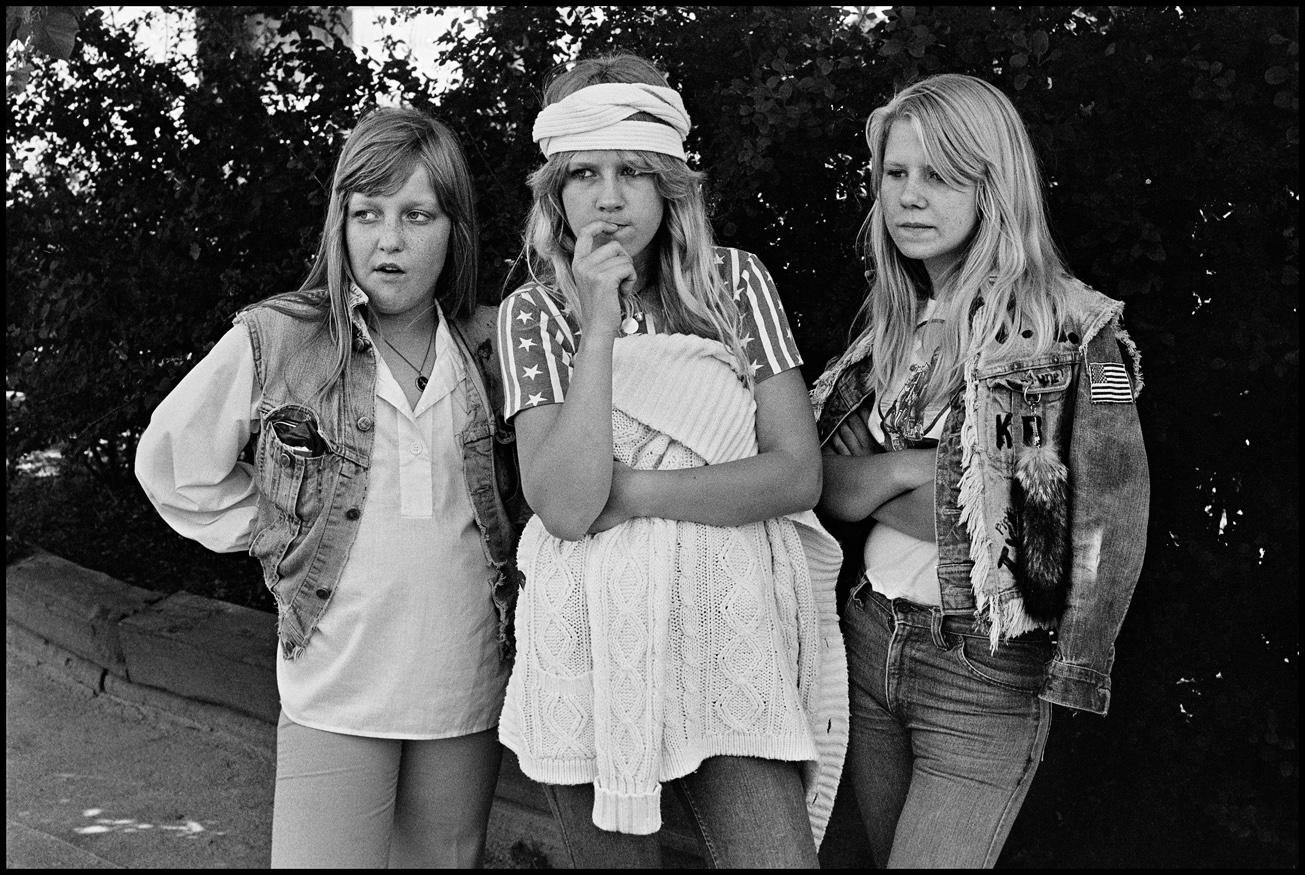 Carina, Liselott och Git i Opalparken 1977. Foto: Ingmar Jernberg.