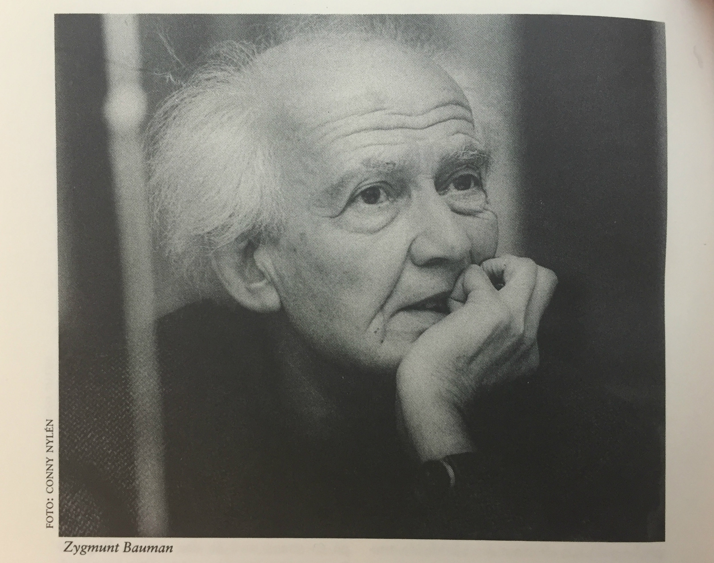 Zygmunt Bauman på Ord&Bilds redaktion i Göteborg, oktober 1994. Foto: Conny Nylén.