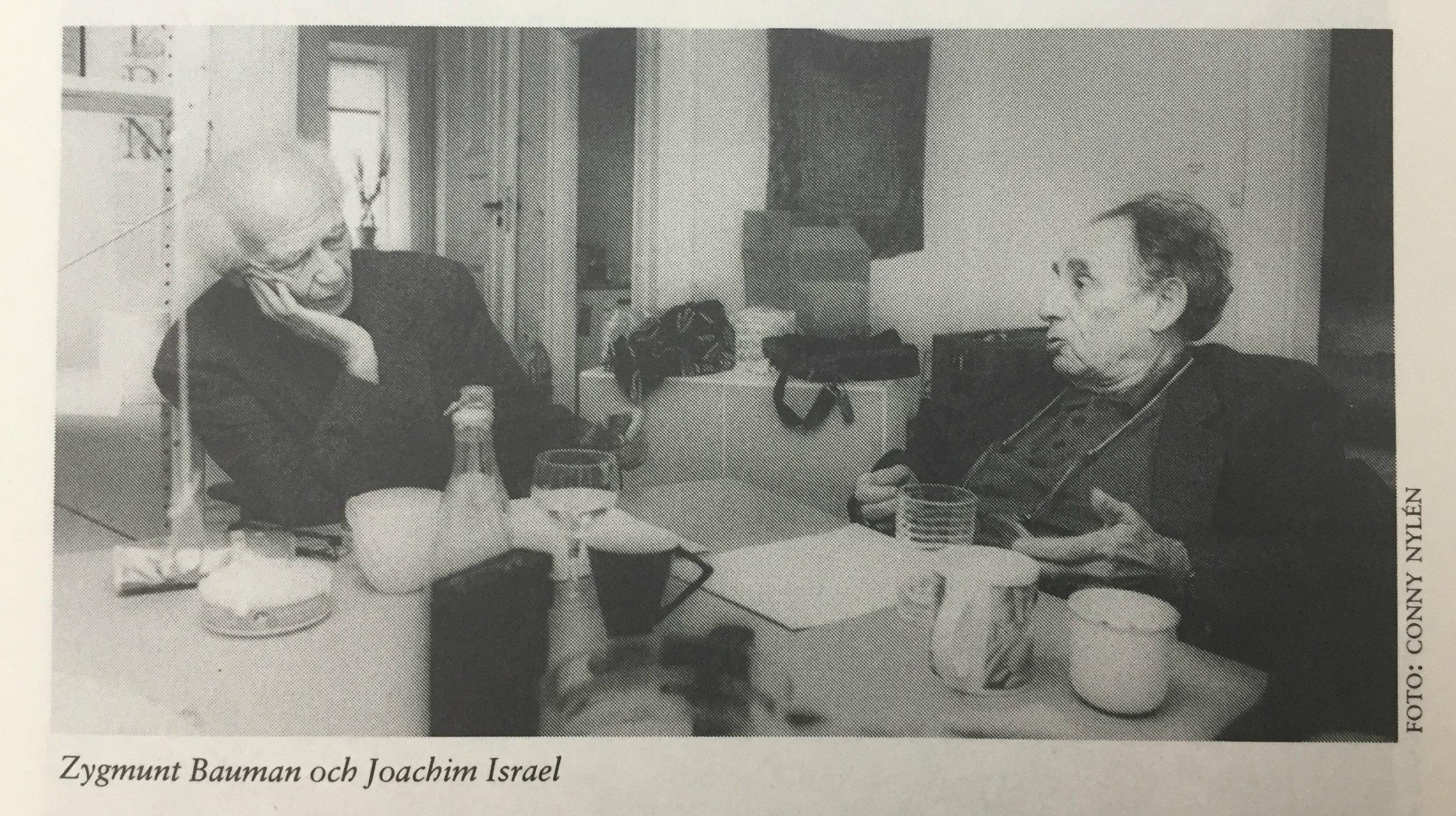 Zygmunt Bauman och Joachim Israel. Foto: Conny Nylén.