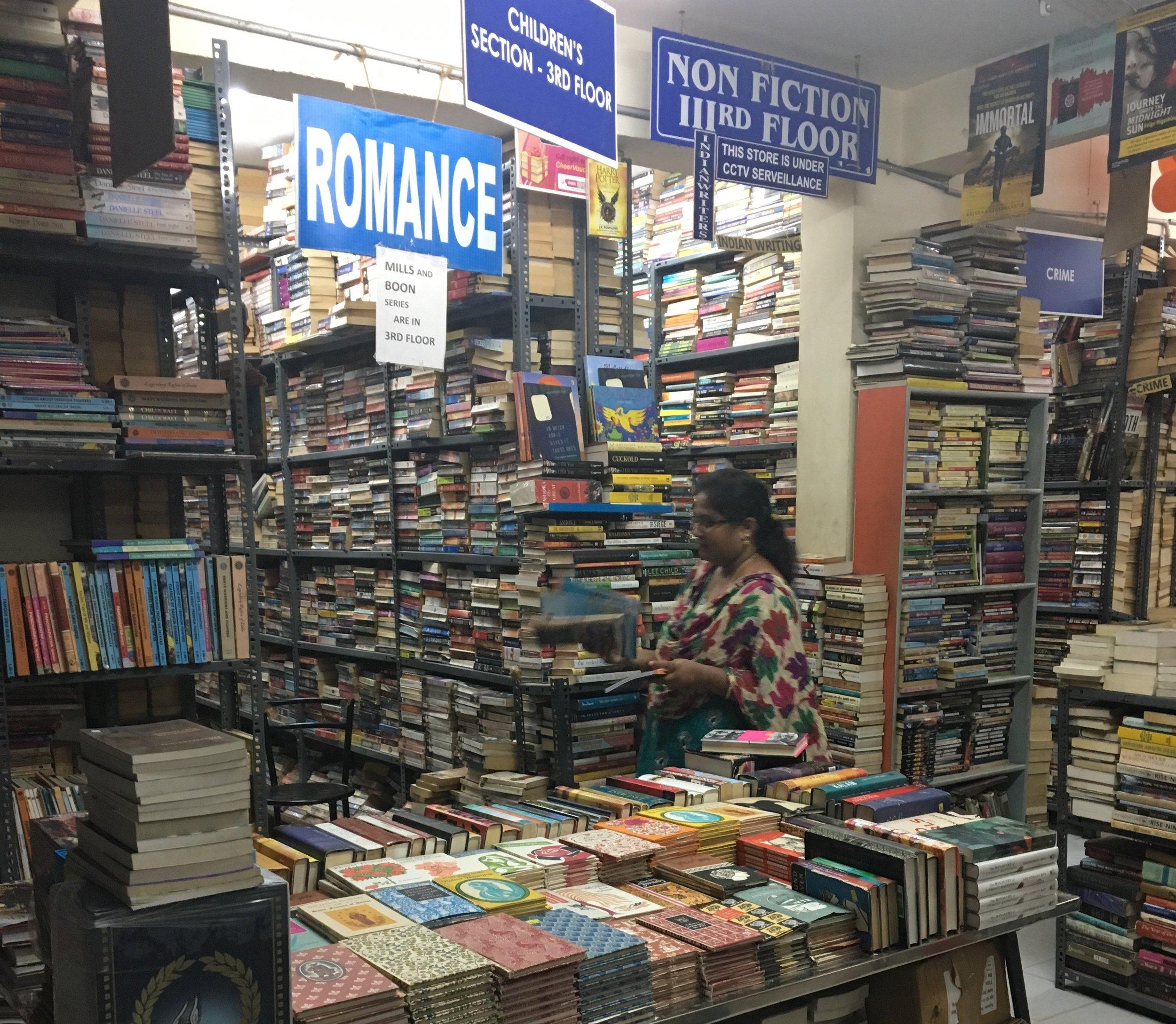 Bokhandel på Church Street i Bangalore. Foto: Ann Ighe
