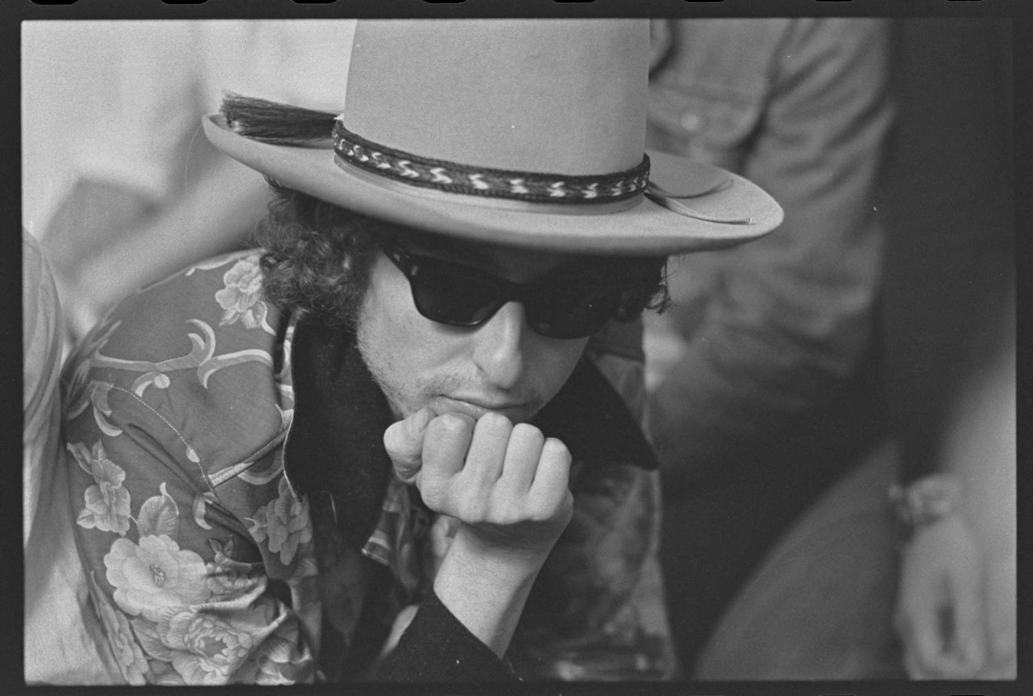 Pressbild till releasen av  Bob Dylan – The Rolling Thunder Revue: The 1975 Live Recordings.  Foto: Ken Regan.