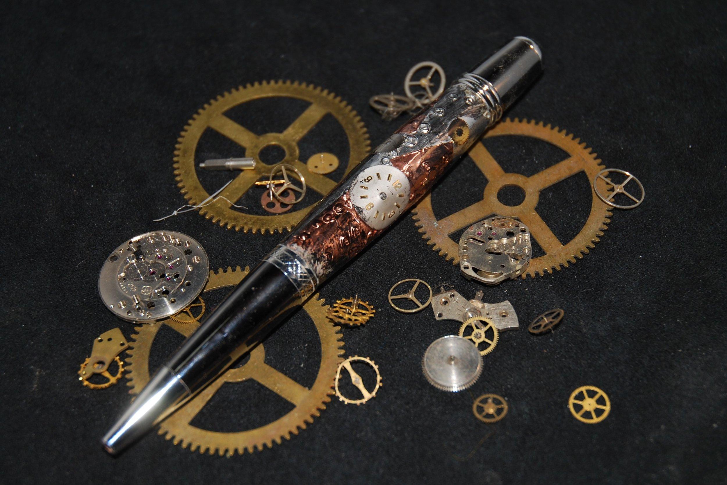 Steampunk Manhattan Pen with Clock Face - 2.jpg