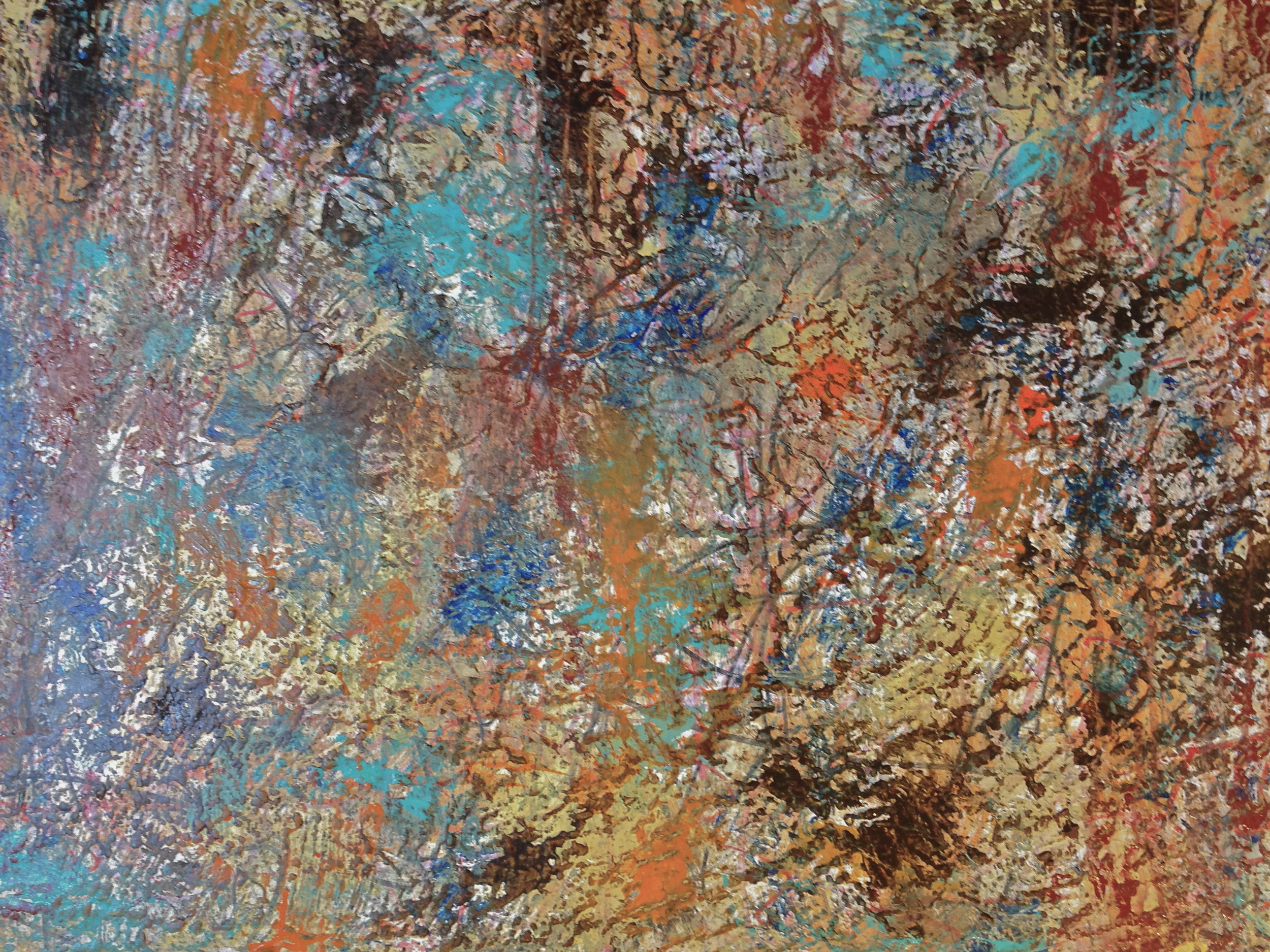 This is the abstract which initiate the figurative, I see forms of figures that I extract.