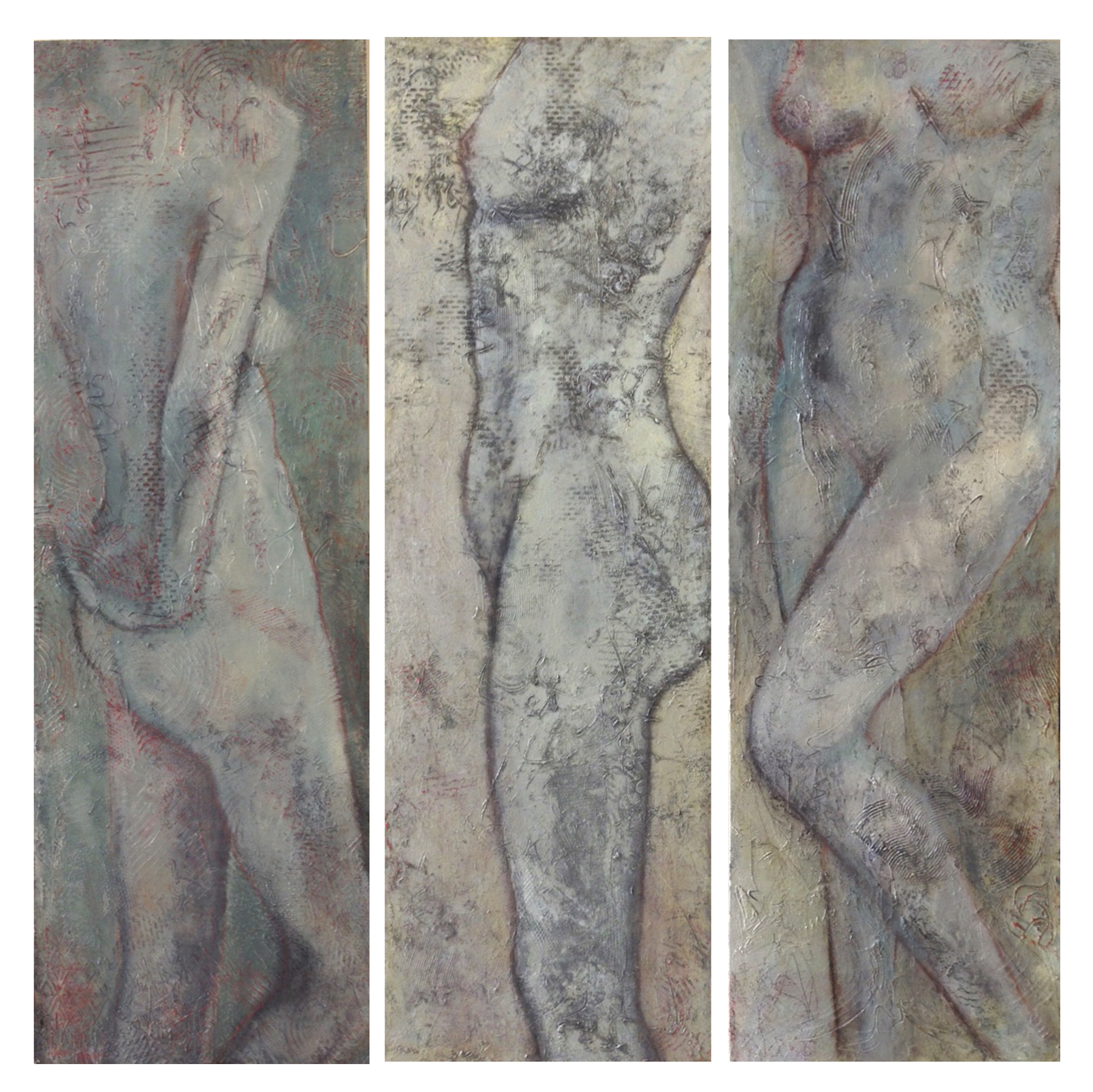 Triptych of Scarred Series