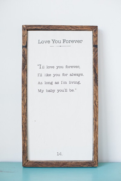LOVE YOU FOREVER BARN WOOD SIGN