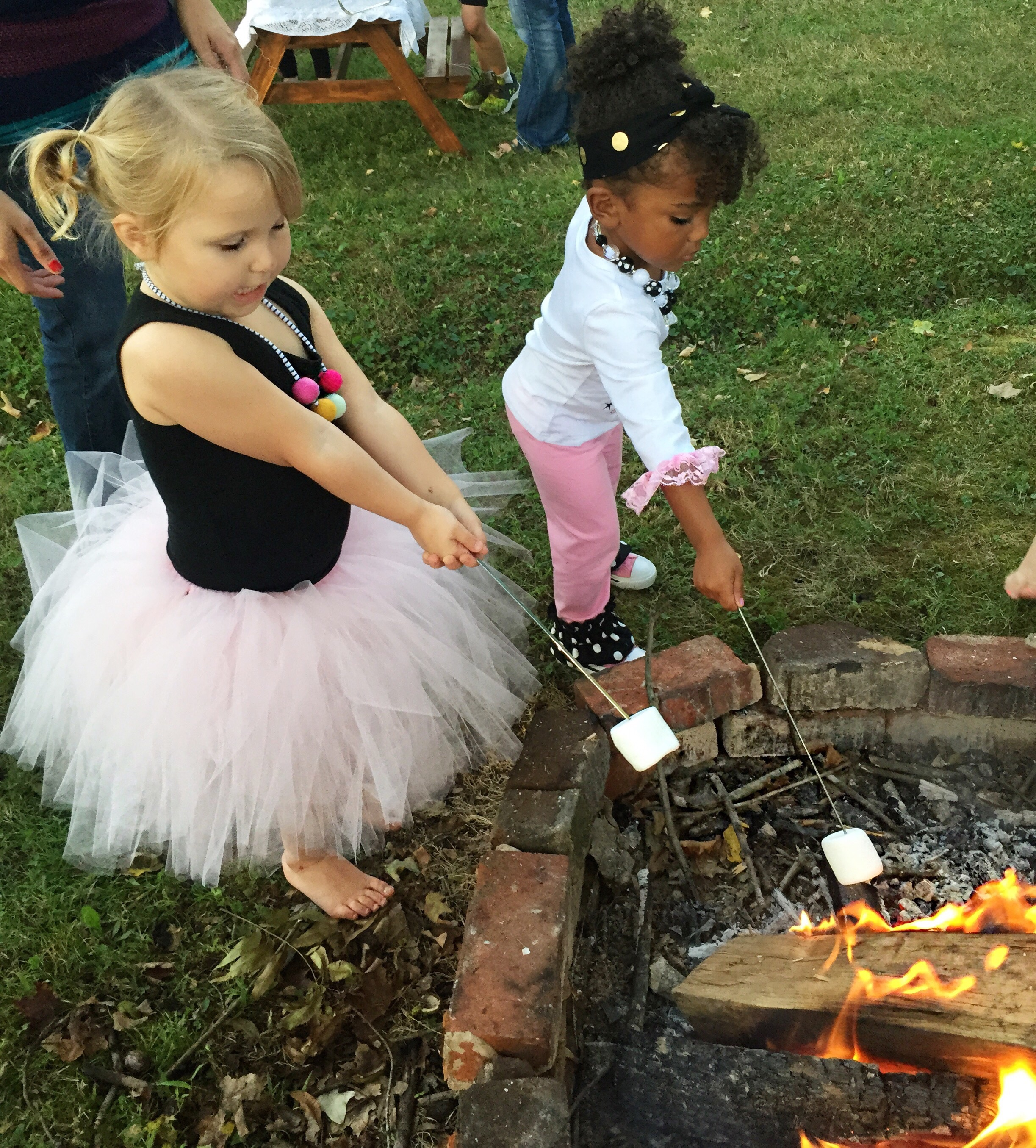 After dinner we roasted marshmallows and made smore's!! It was a lot of fun. Harper was all over the marshmallow part!