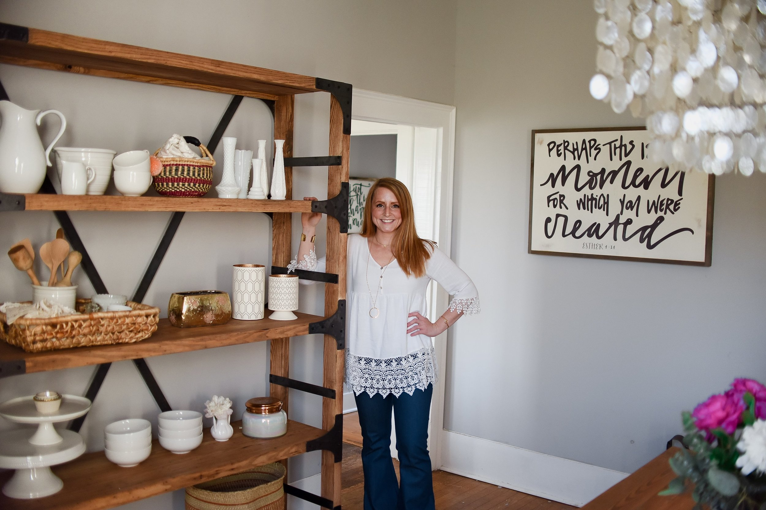 This gorgeous shelf is part of my furniture line with   White Shanty  . I am honored to design so many unique and timeless pieces. I can't wait to share more pieces with you soon.