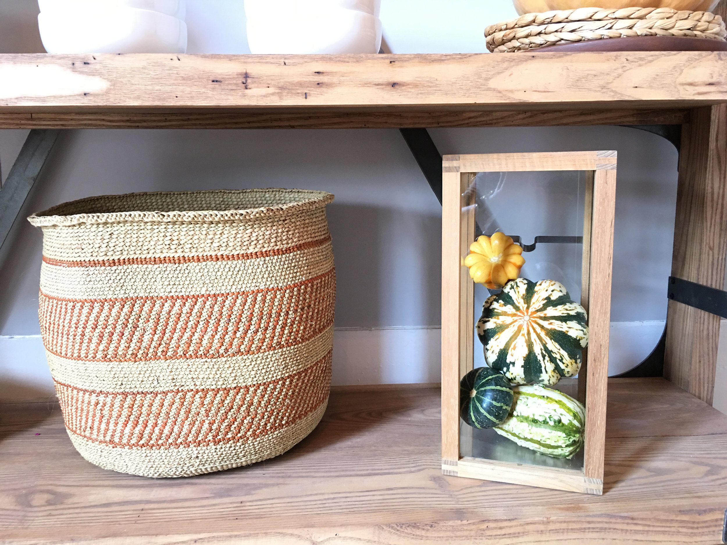 This is one of my favorite baskets and a catch all for anything extra I can put up later! It's from @plumandsparrow.