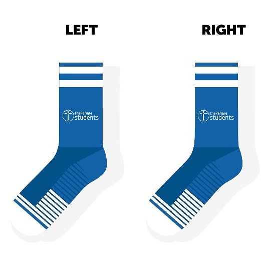 These are our new socks designed by our Student Service and Leadership Team that you can order when you sign up for our May Serve Day or any of our July Activity Days!