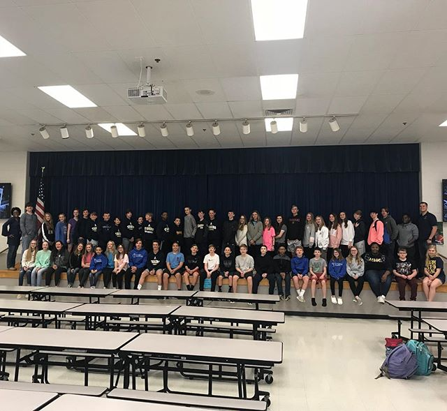 Group photo from Arlington Middle School FCA this morning!