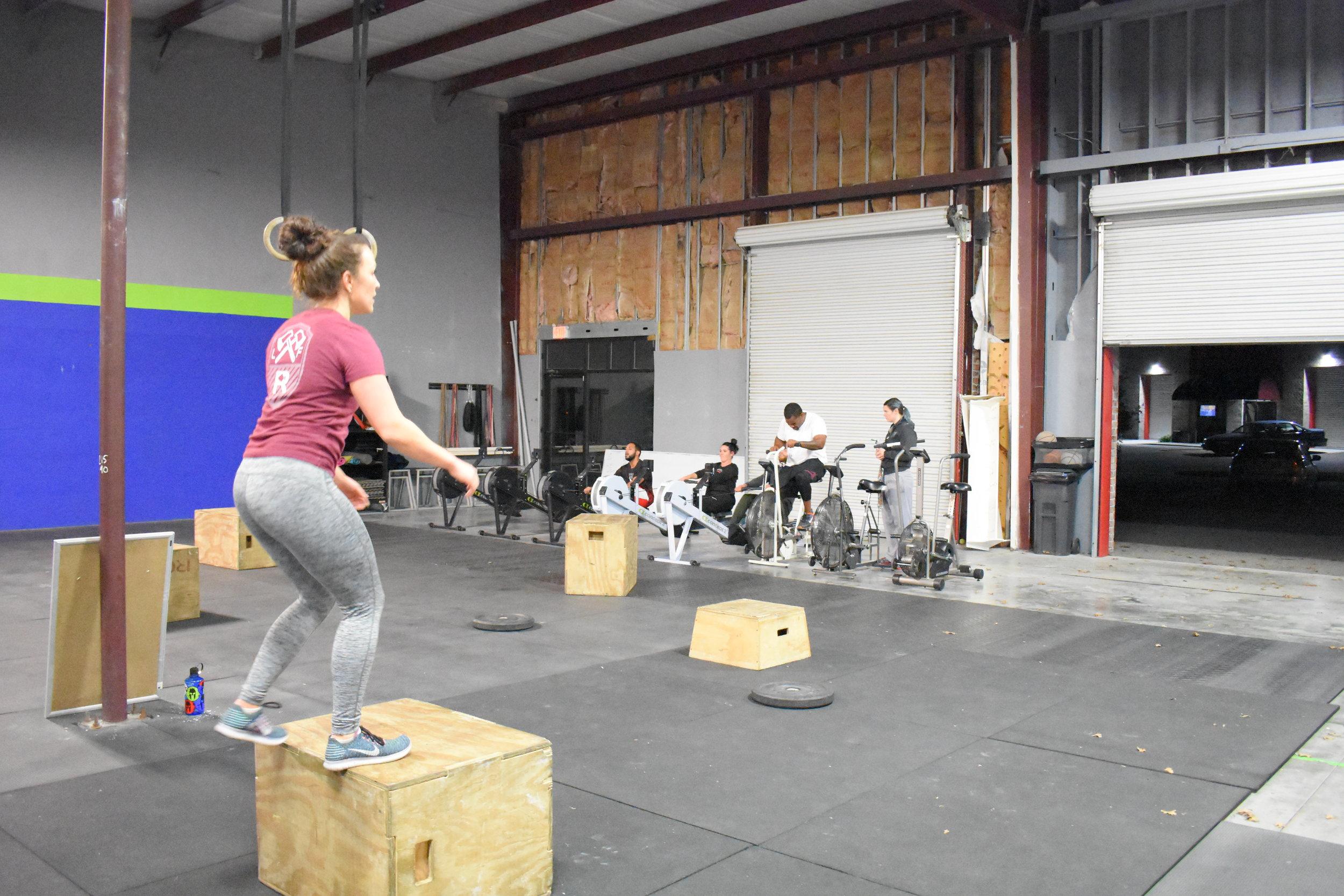 WORKOUT EMOM x 12 MINUTES Minute 1 - 24 Air Squats Minute 2 - 16 Wall Balls (20/14) Minute 3 - 8 Hang Squat Clean (95/65)|(75/55)