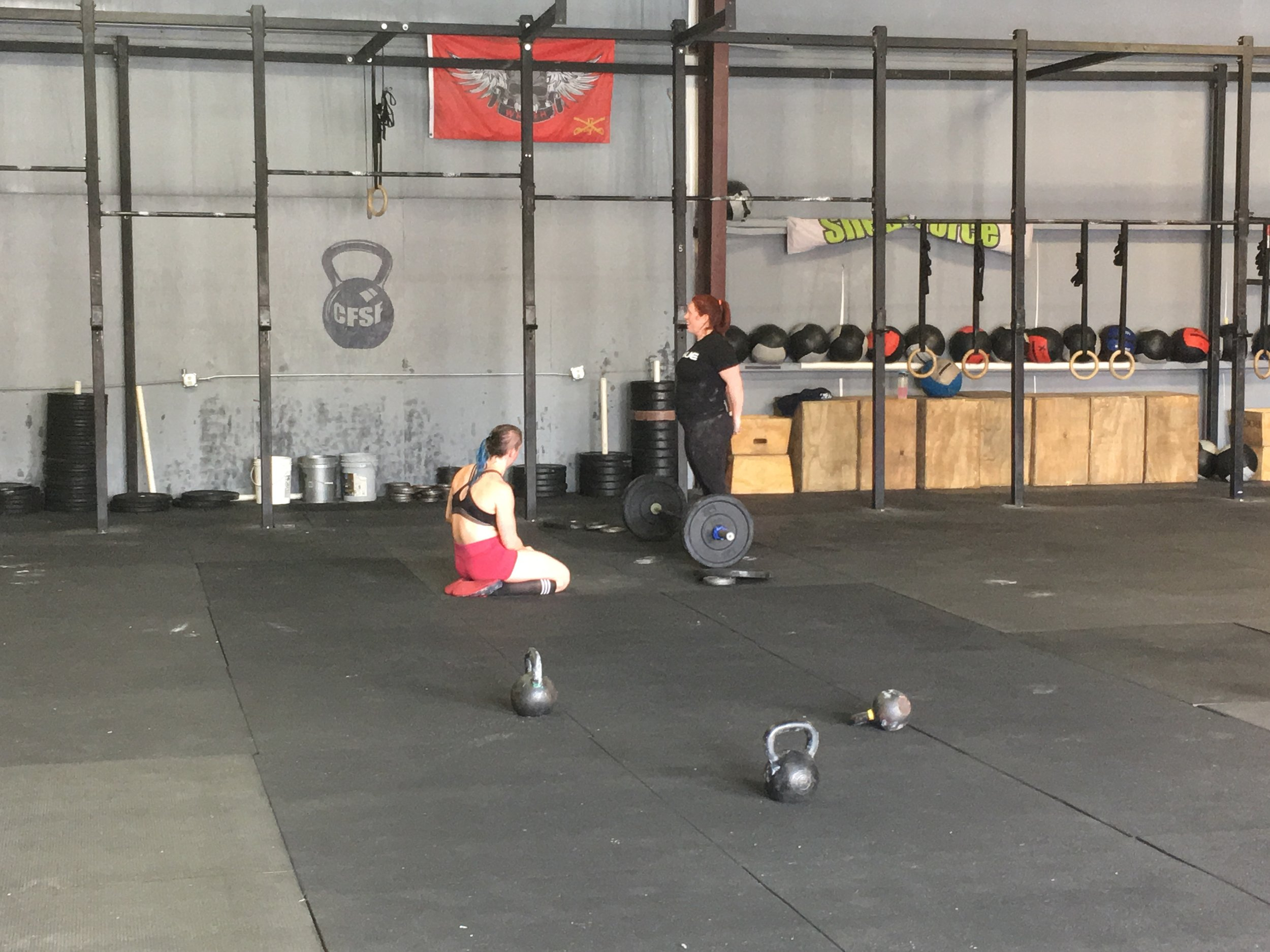 """GIVE""    AMRAP x 12 MINUTES   3,6,9,12... Toe to Bar  Thruster (95/65)