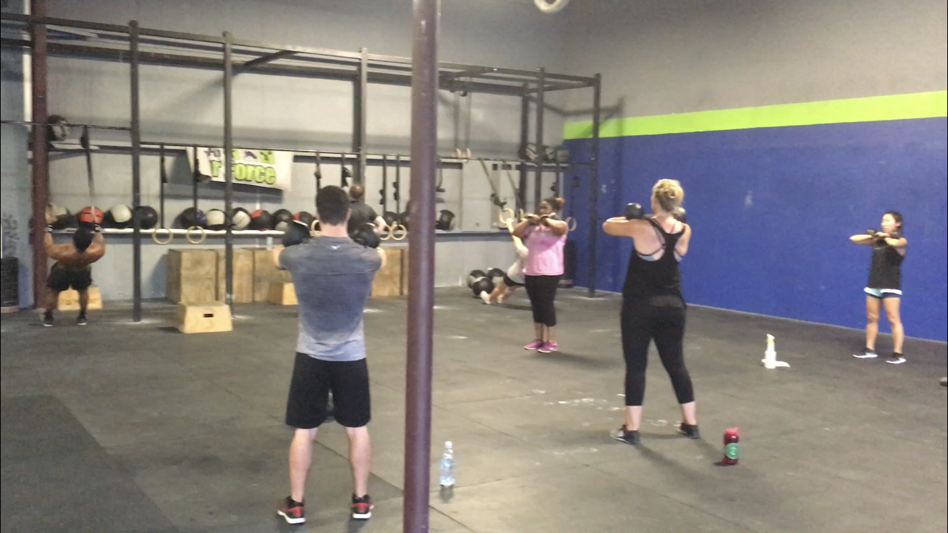 WORKOUT    FOR TIME   21-15-9-6 Handstand Push-up   8-8-8-8 DB Box Step-Over (50/35)|(35/25)/(24/20)  *Run 200m After Each Set