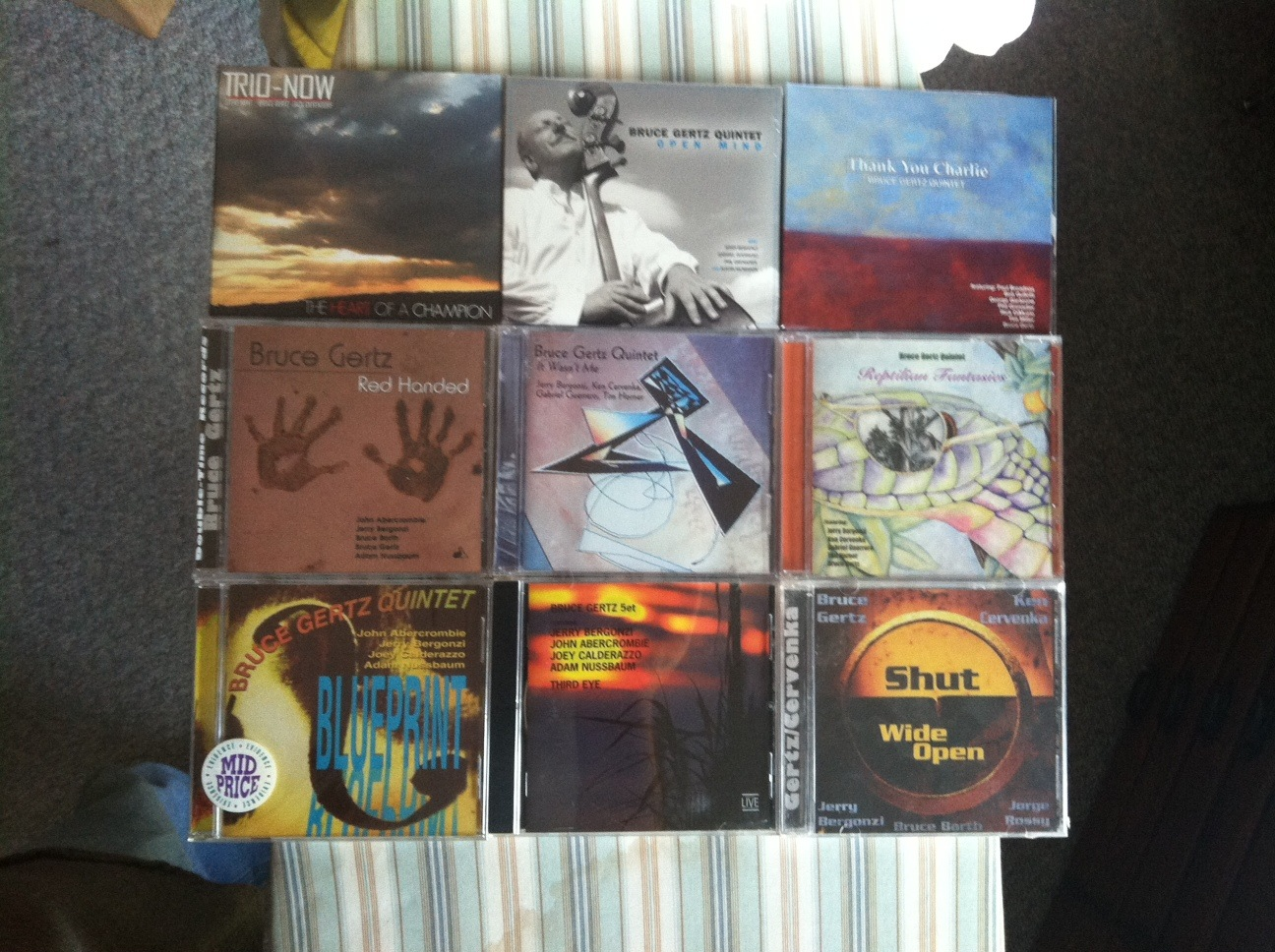 Partial Discography Open Mind Jazz, Double Time Jazz, Evidence Music and RAM Records