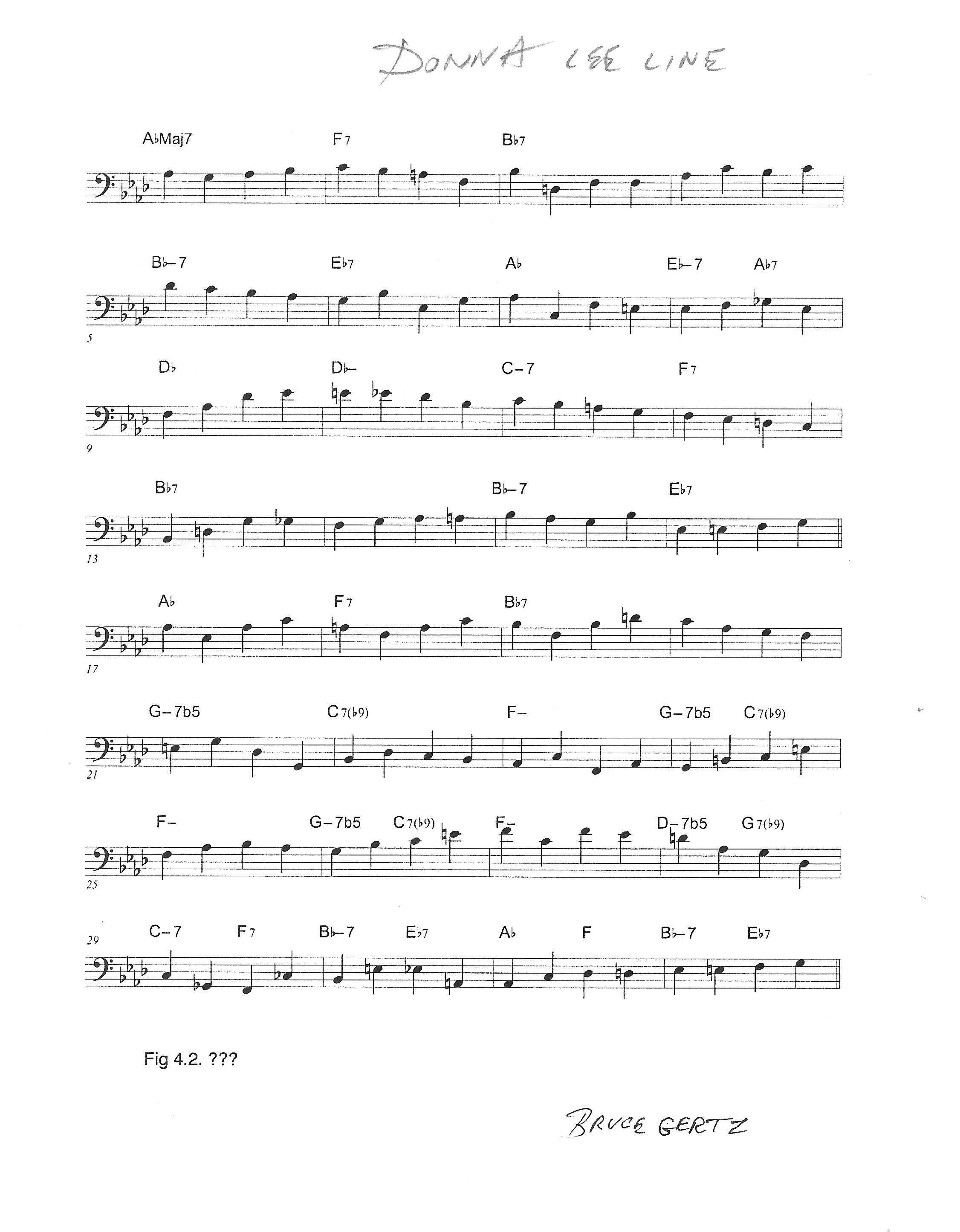 Donna lee Bass Line