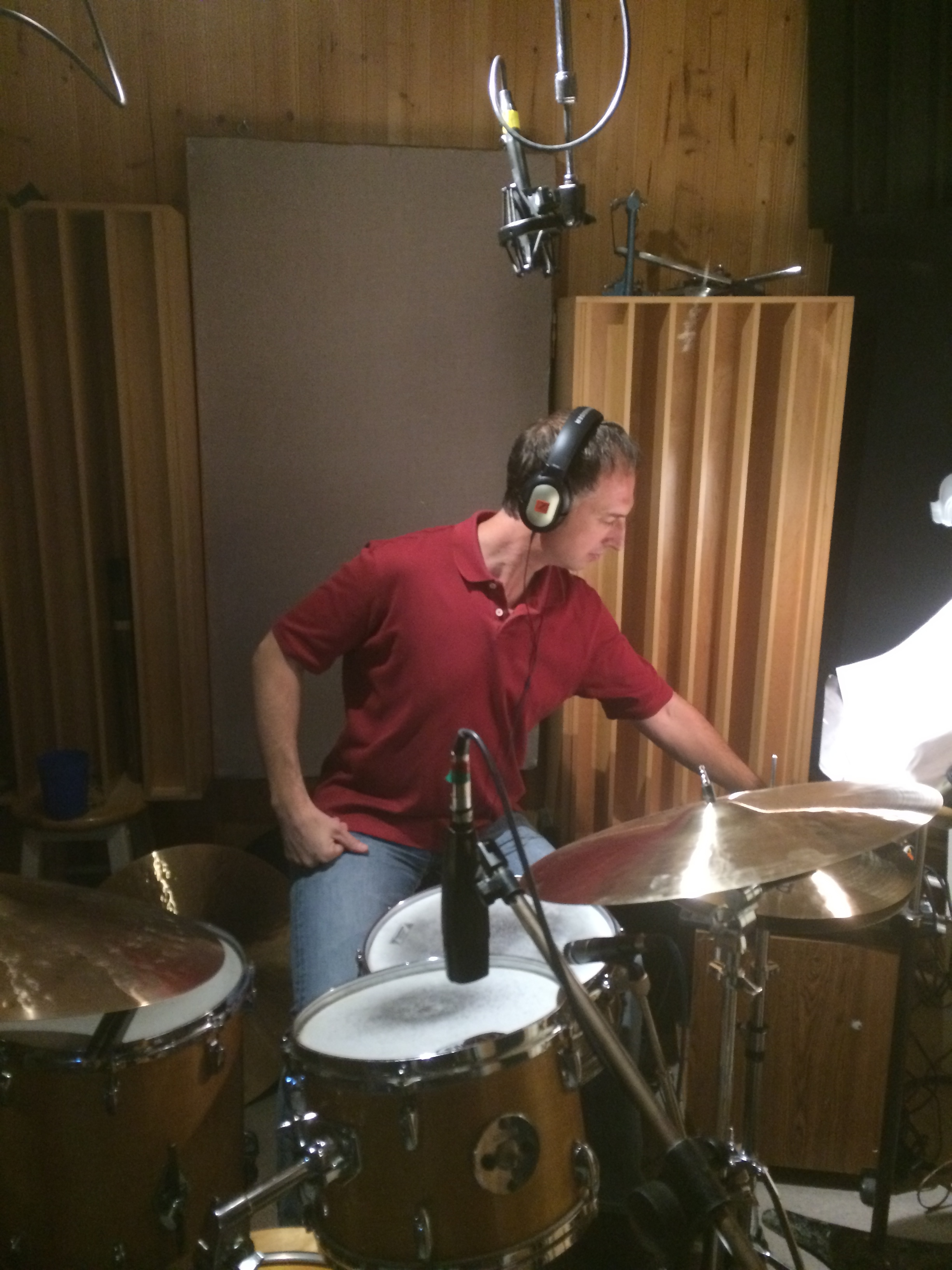 Mark Walker at Haim Pickholtz recording session 2014, POBS Studios, Westwood, MA