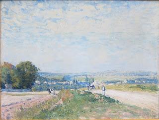 My favorite painting in the Musee de l'Orangerie. (Alred Sisley)