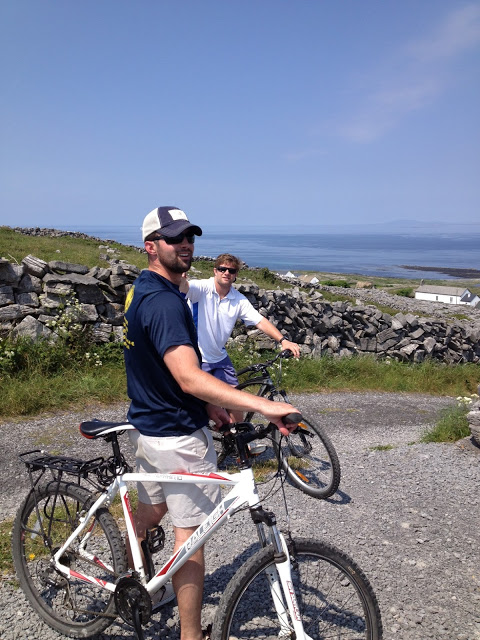 Danny and Brendan after we biked up a treacherous mtn.