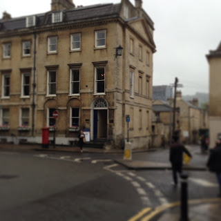One of the houses Jane lived in while in Bath, in Queens Square