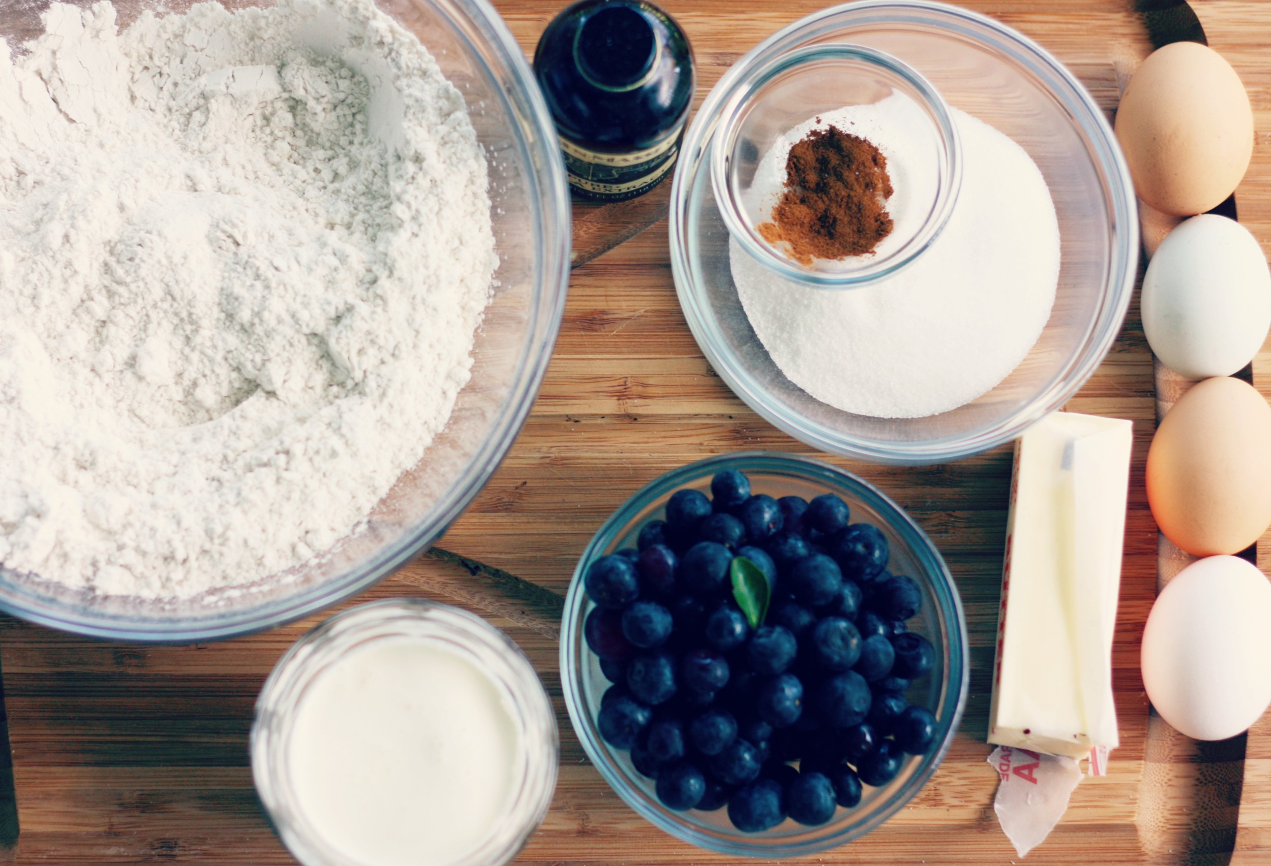 Ingredients for homemade blueberry and cinnamon scones | The Gallivant