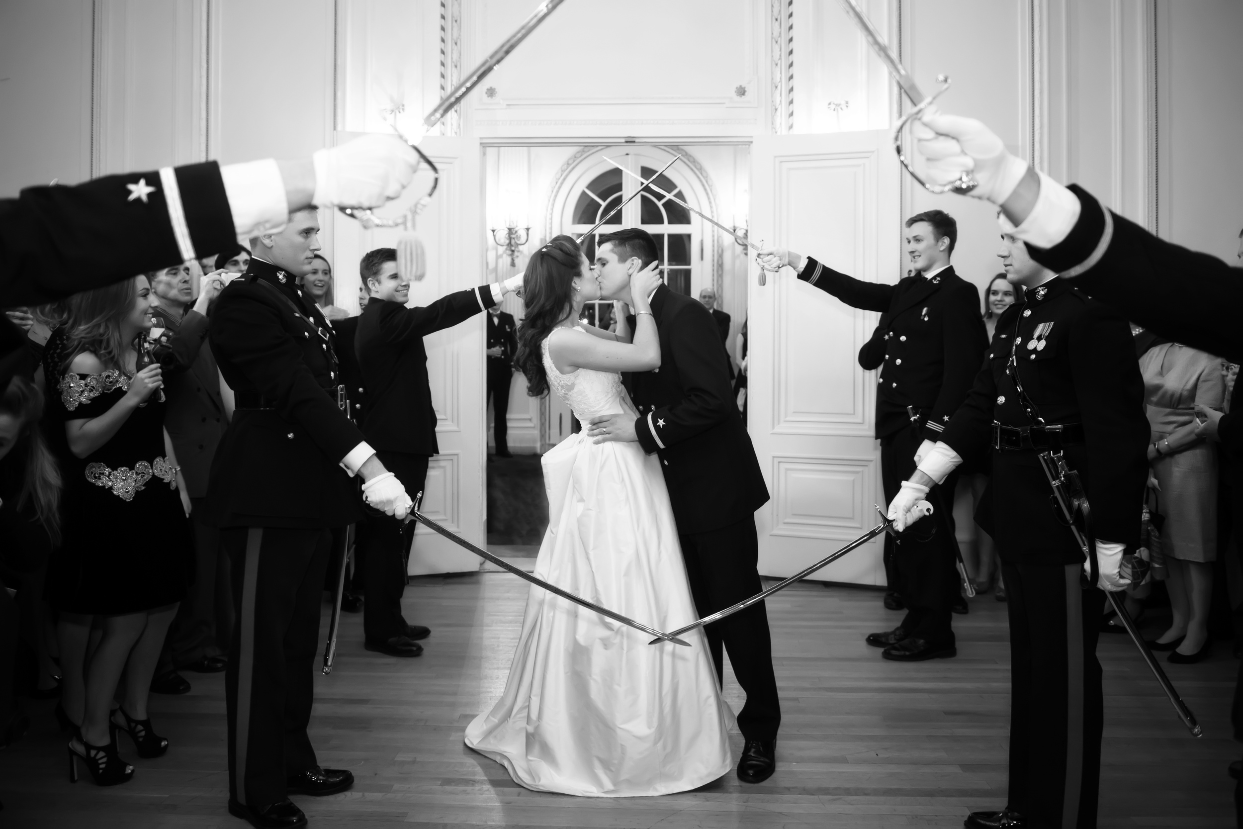 Sword Detail | Navy Wedding | Emily and John Richey | The Gallivant
