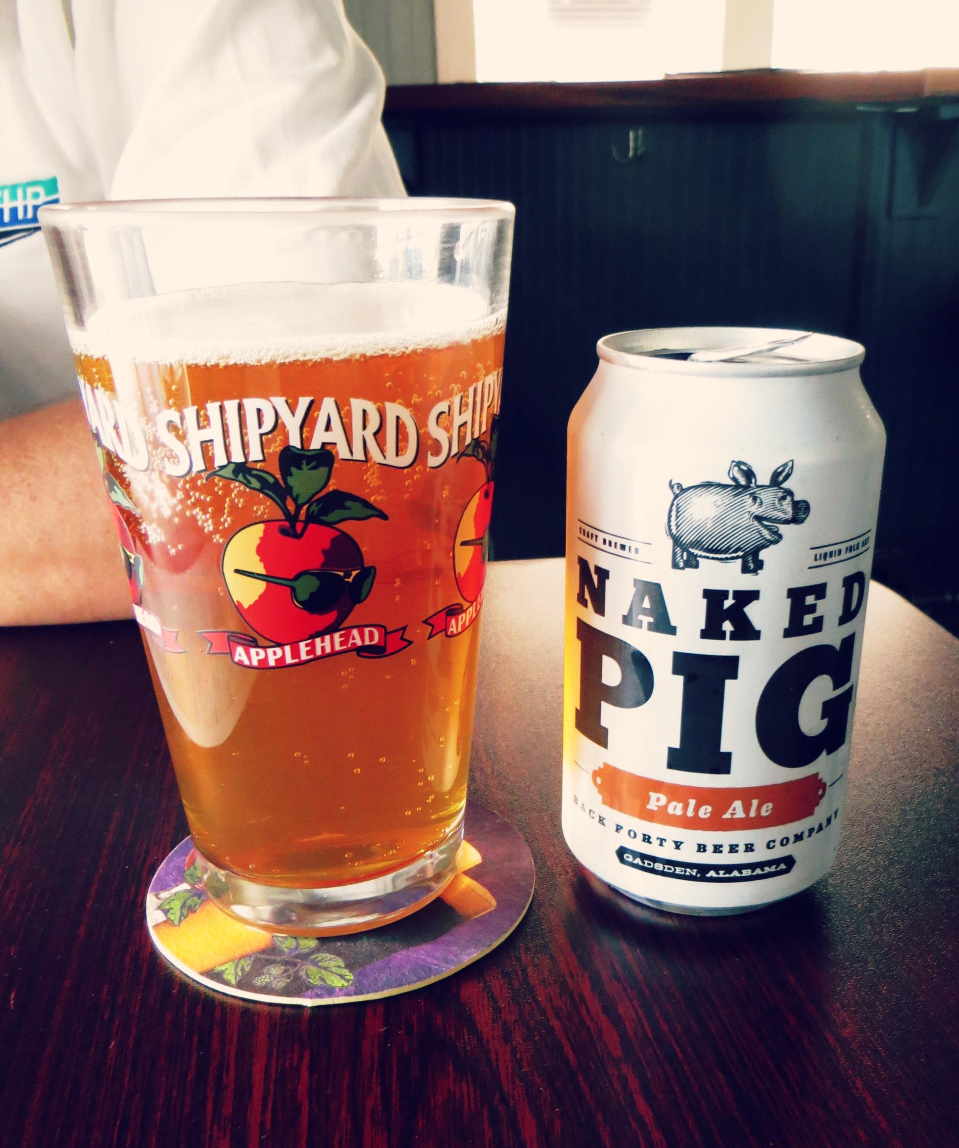 Naked Pig Pale Ale | The Magnolia | Pensacola, Florida