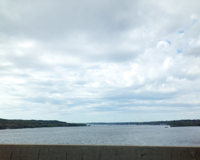Crossing the Mississippi.