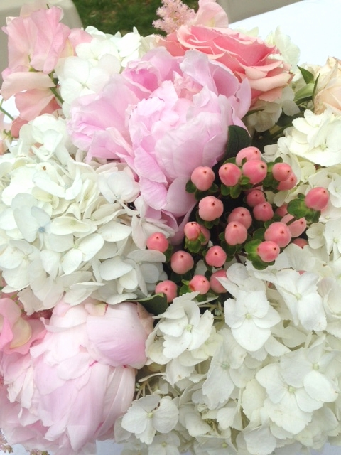 The most gorgeous flowers from the wedding. Adore the blushing pink theme.