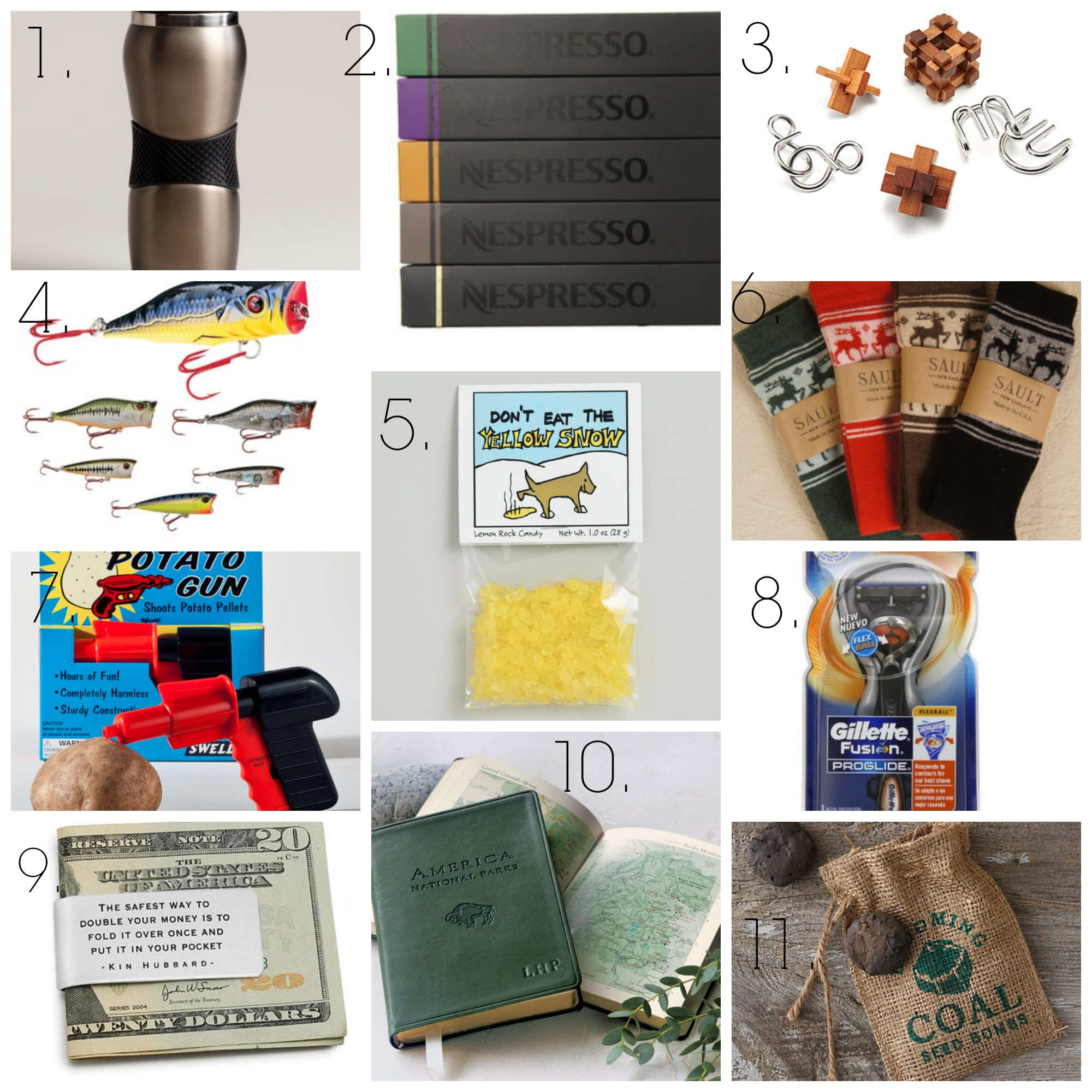 A gift guide full of great stocking stuffer ideas for the men in your life!