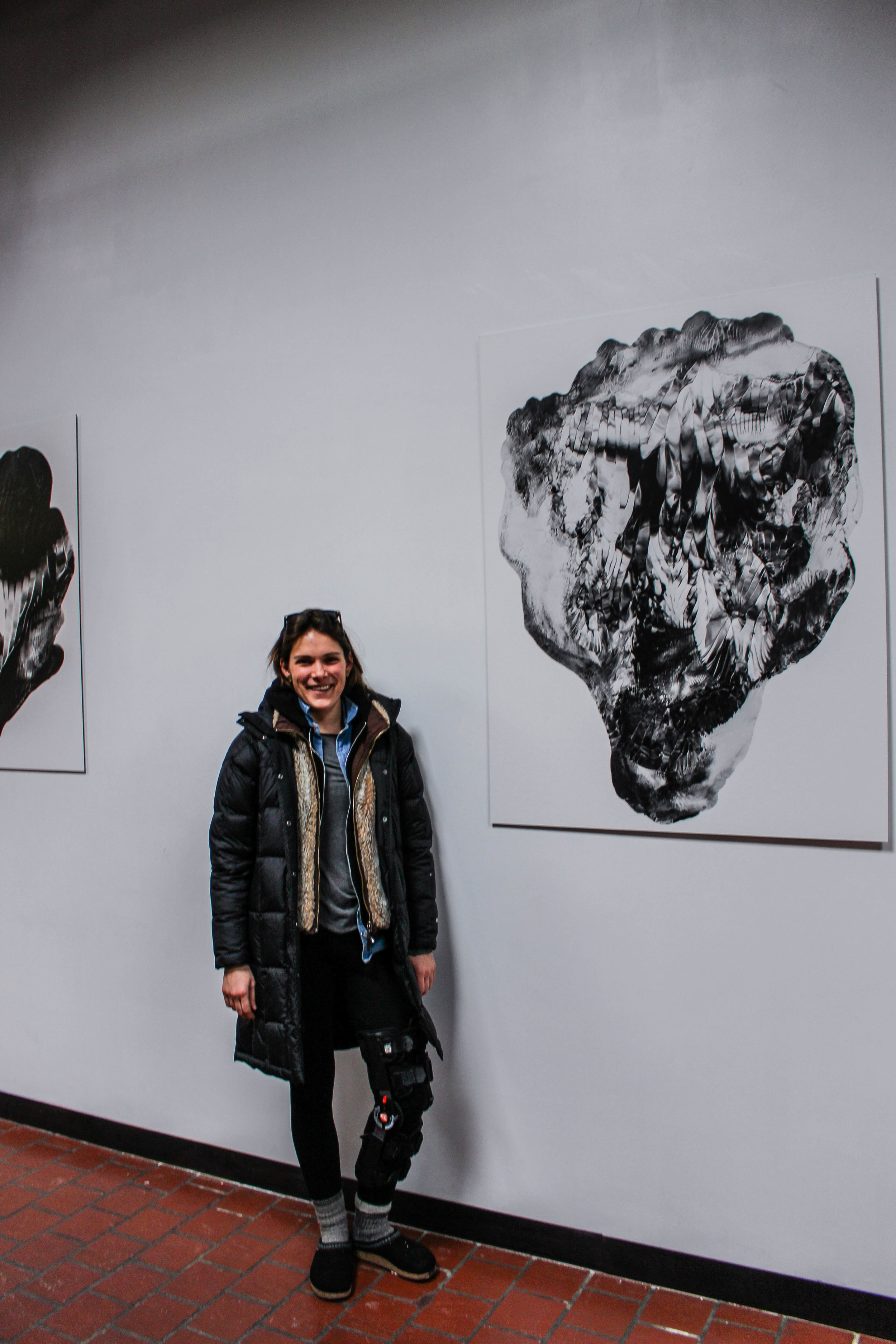 My brilliant Antonia next to one of her pieces.