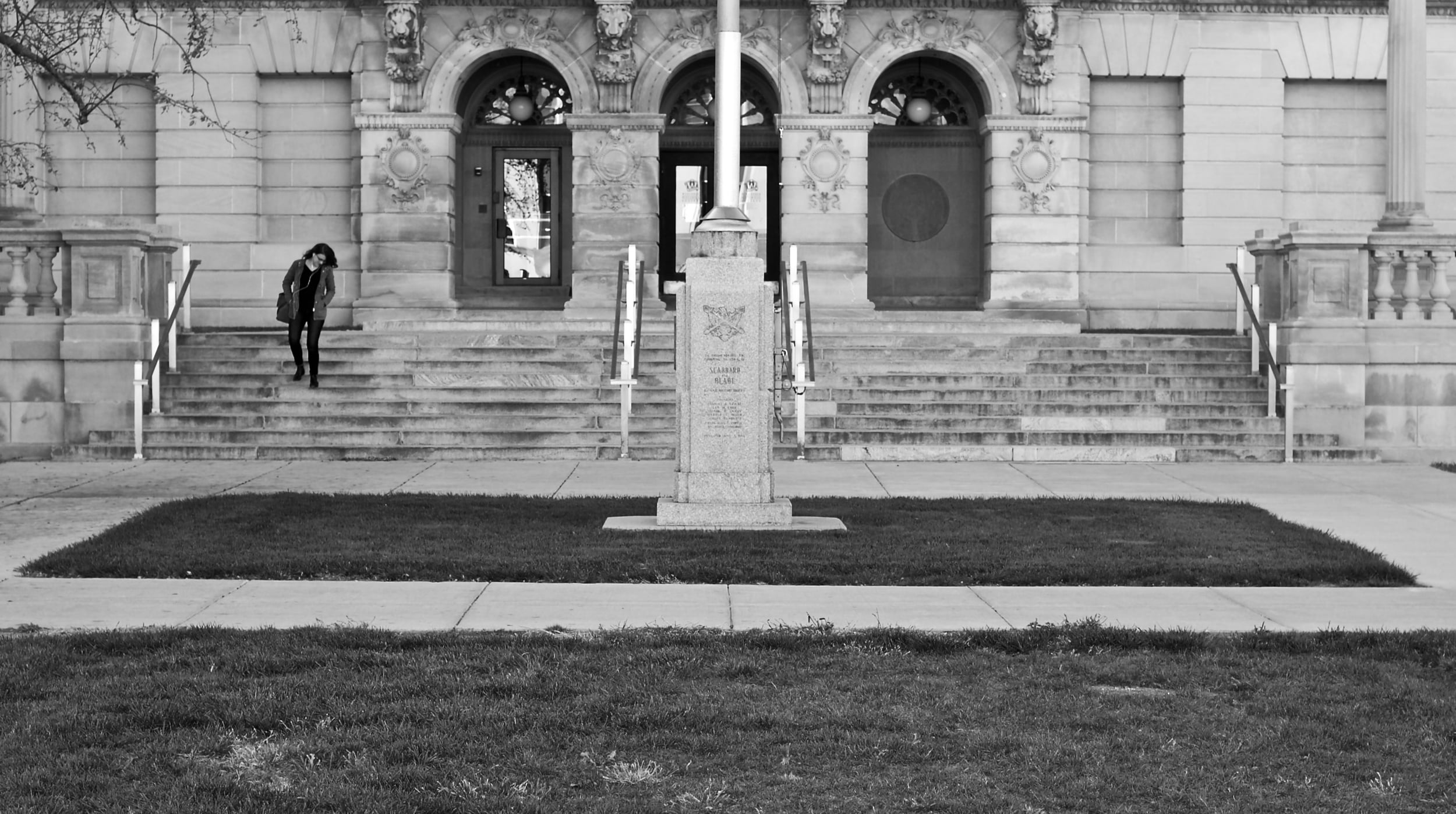 Off Center.   Library Mall. Madison, Wisconsin.   January 2016.    © William D. Walker