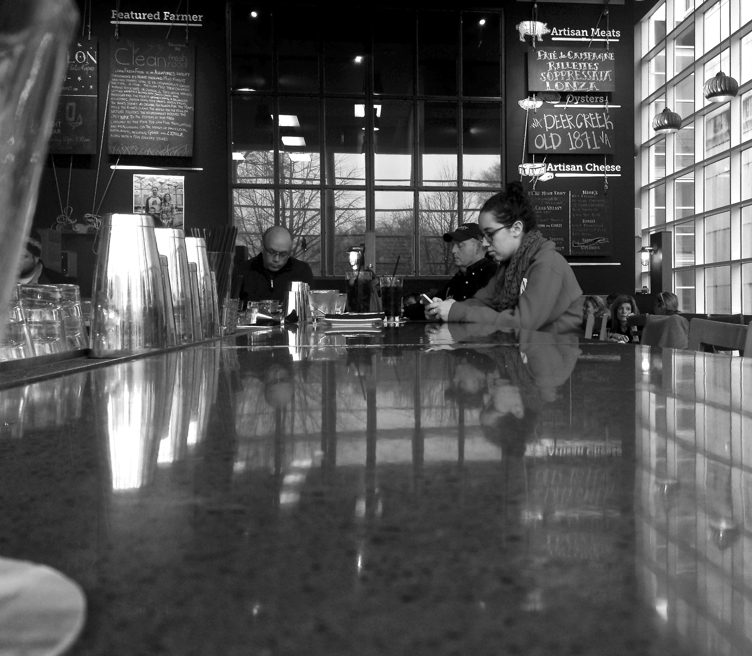 Lunch Counter. Capitol Square. Madison, Wisconsin. December 2015. © William D. Walker
