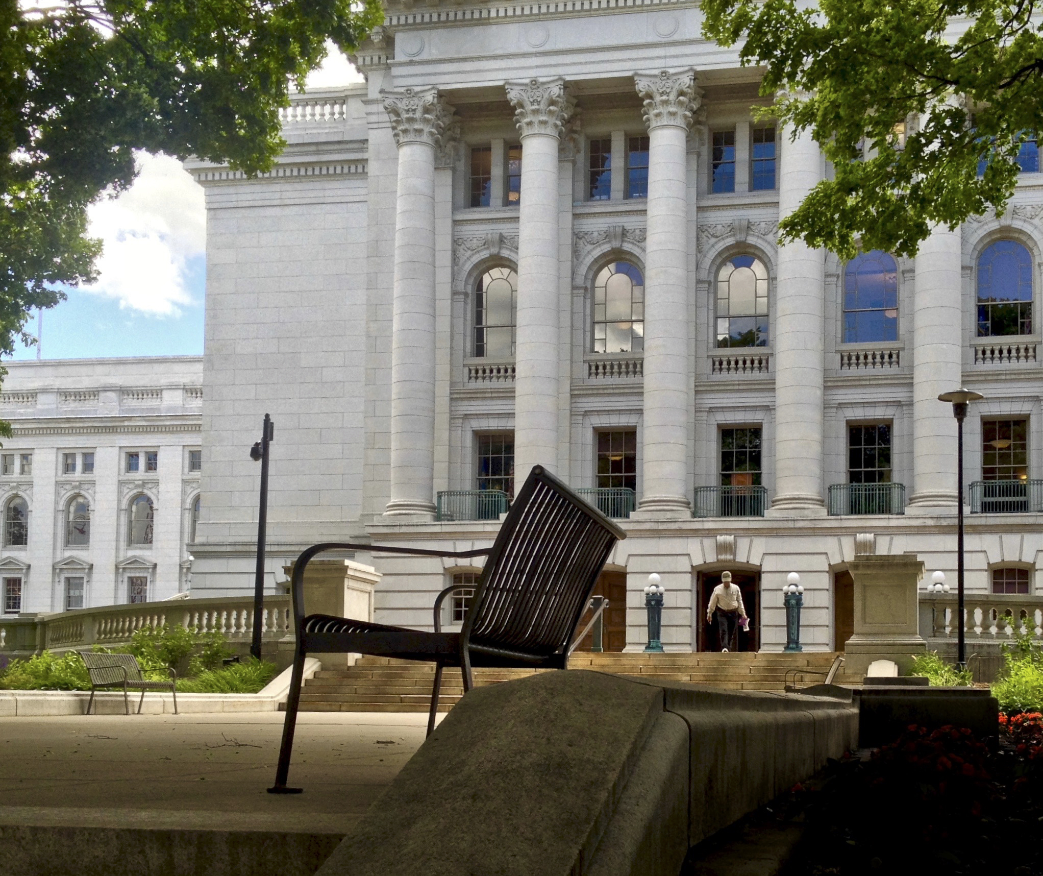 Windows. State Capitol. Madison, Wisconsin. June 2016. © William D. Walker