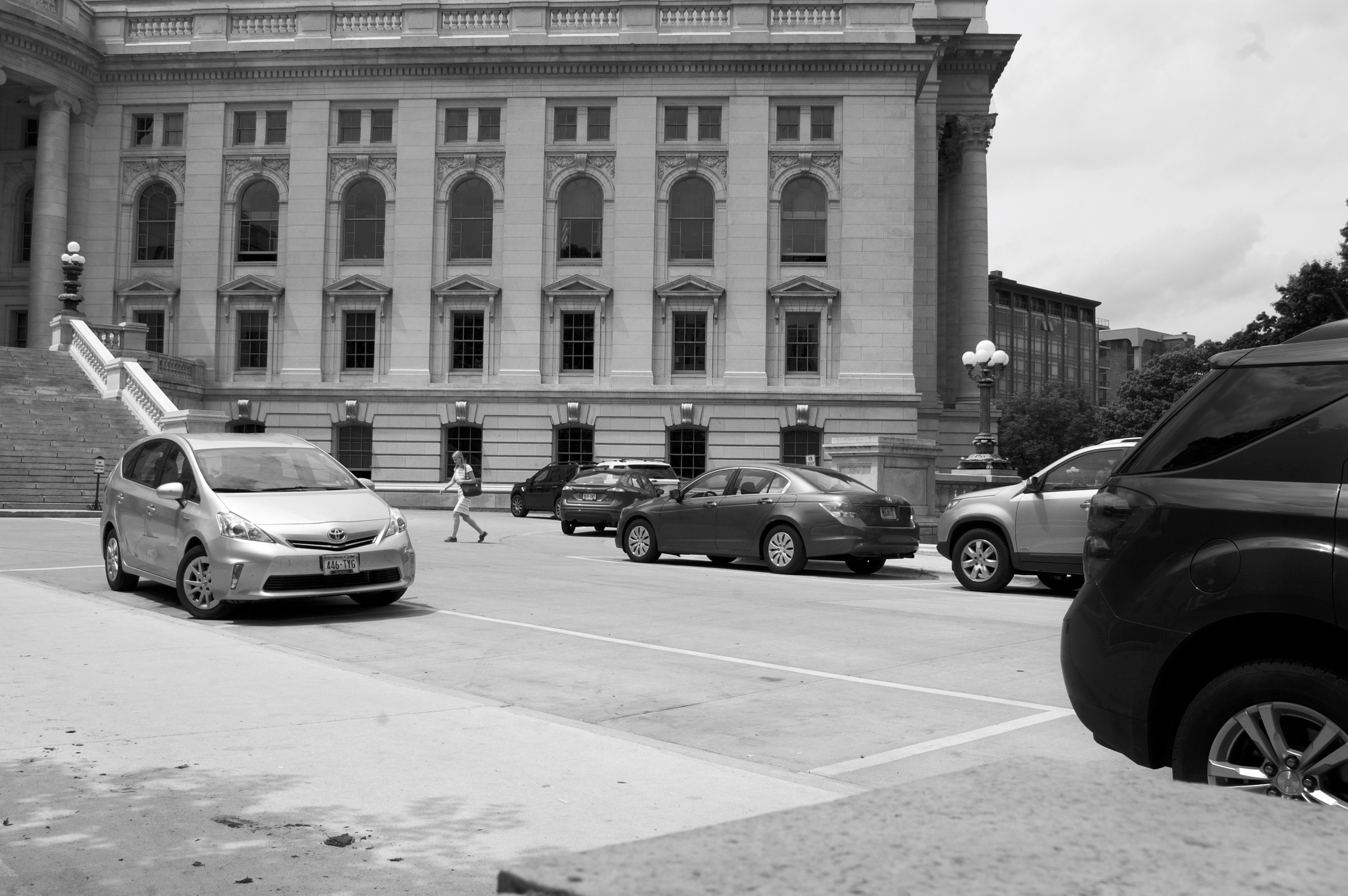 Cars. State Capitol. Madison, Wisconsin. May 2016. © William D. Walker