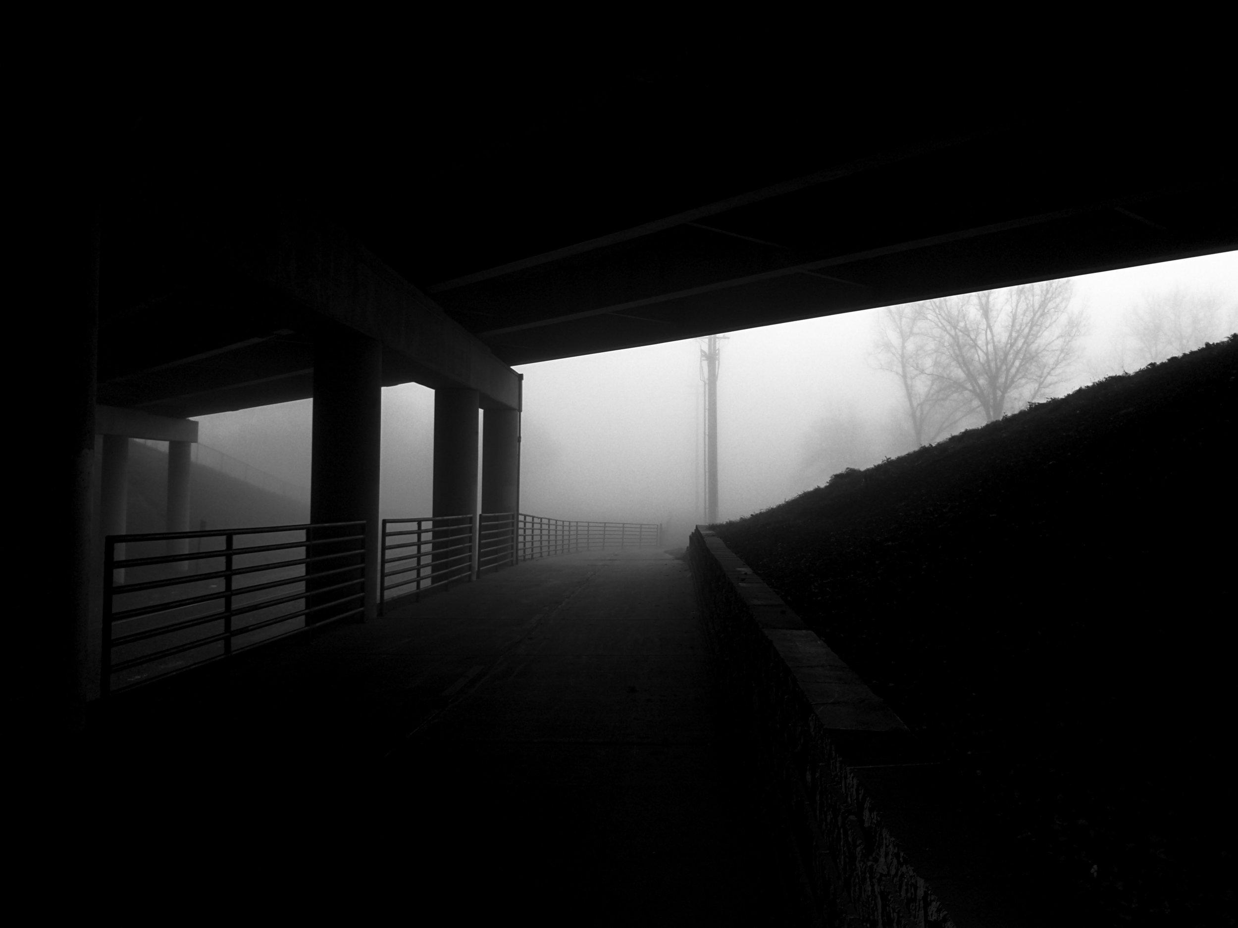 Underpass. West Beltline Highway. Madison, Wisconsin. November 2016. © William D. Walker