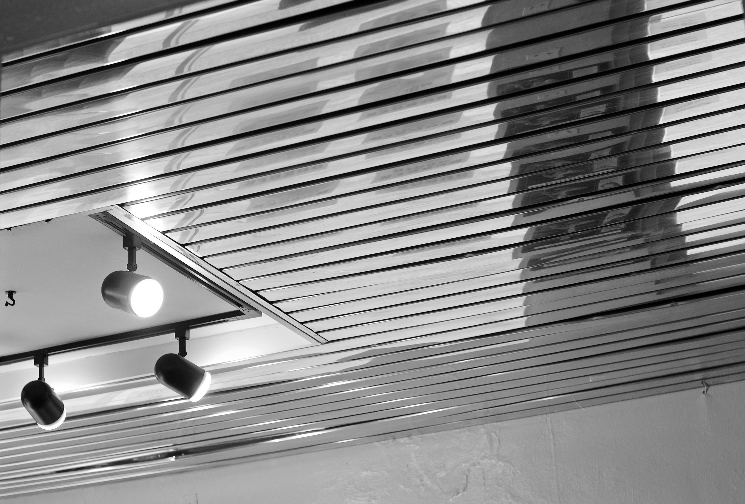Ceiling Strips.   Madison, Wisconsin.   January 2016.   © William D. Walker
