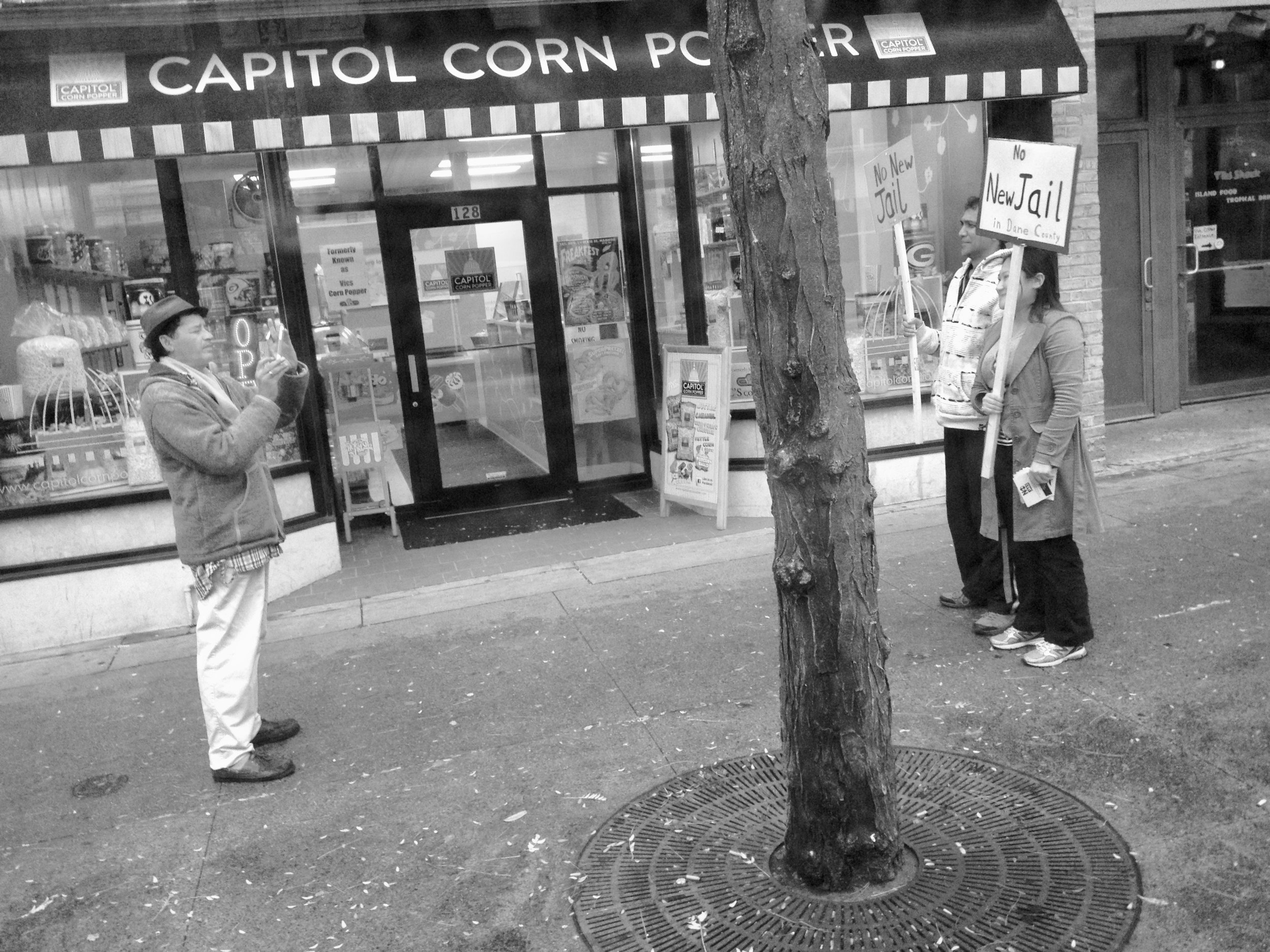 No New Jail. State Street. Madison, Wisconsin. October 2014 © William D. Walker