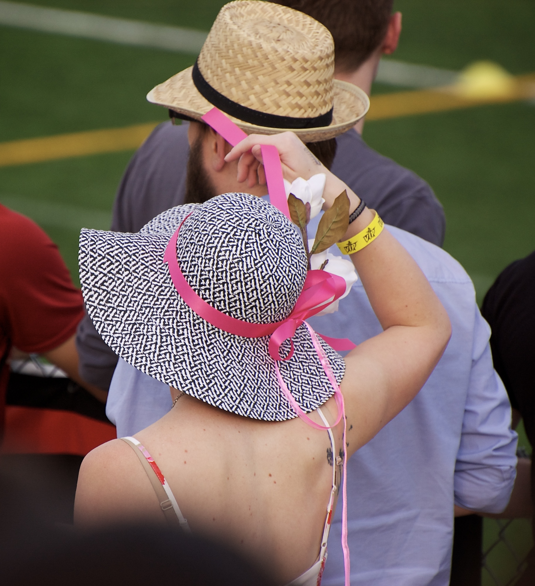 Pink Ribbon. Breese Stevens Field. Madison, Wisconsin. May 2015. © William D. Walker