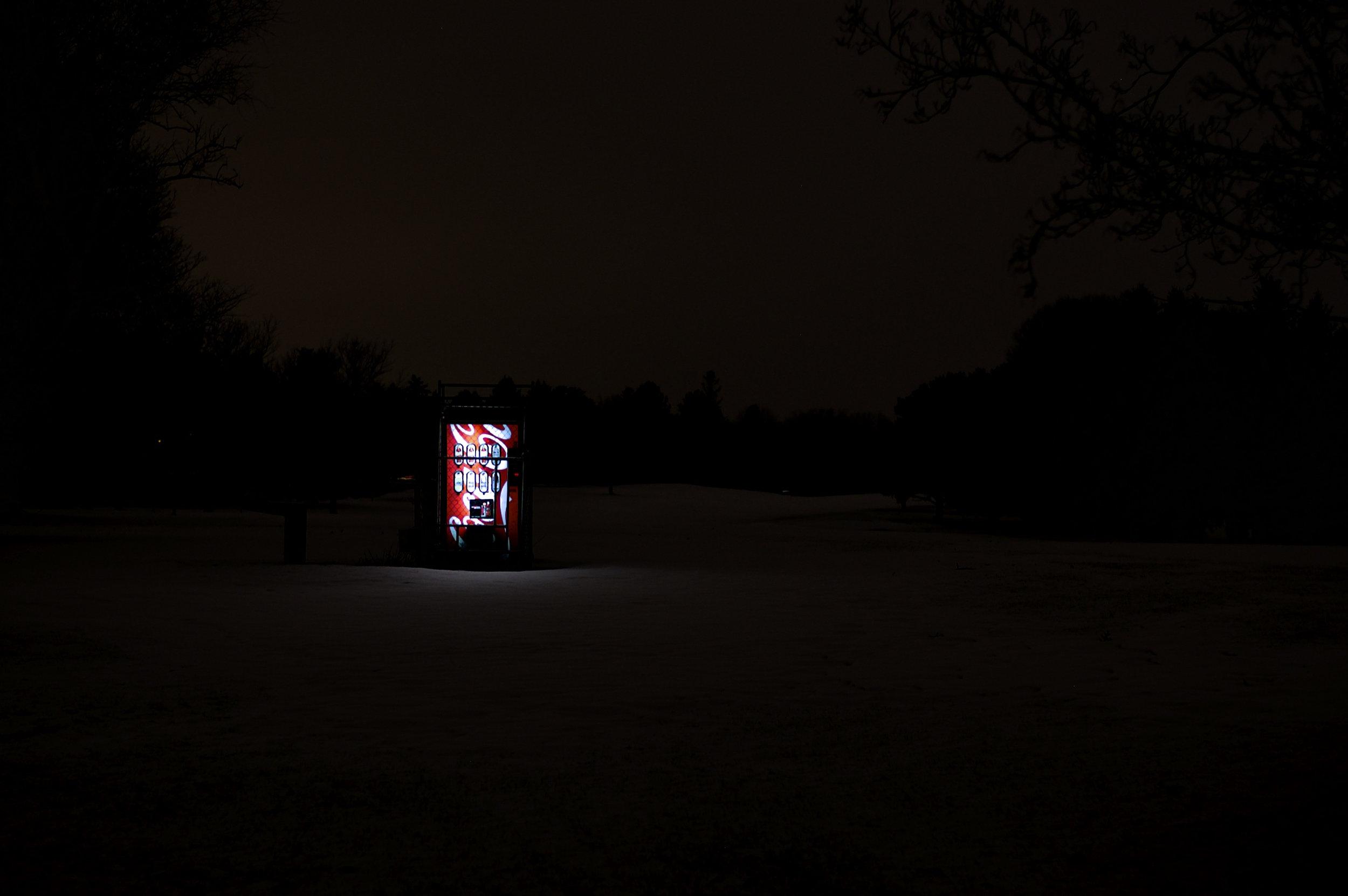 Vending Machine. Odana Hills Golf Course. Madison, Wisconsin. February 2012. © William D. Walker