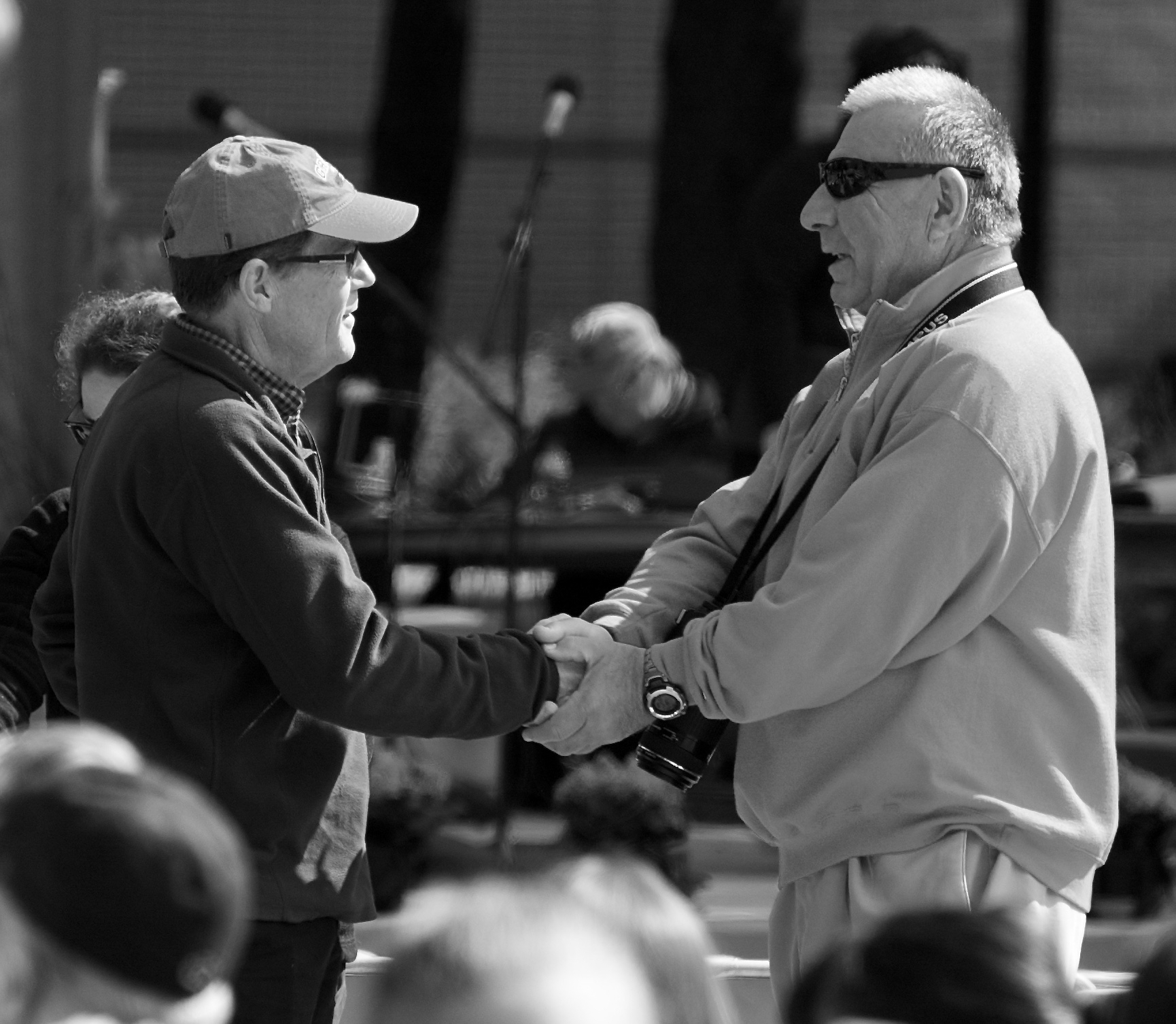 Handshake. Grinnell College. Grinnell, Iowa. May 2015. © William D. Walker