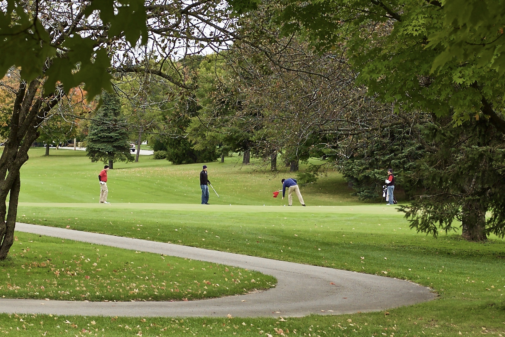 Fall Golf. Odana Hills. Madison, Wisconsin. October 2015. © William D. Walker