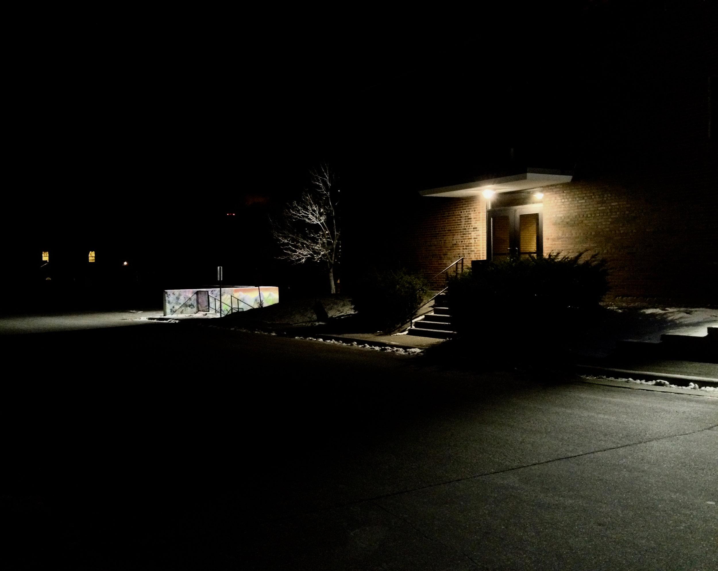 Side Door. West High School. Madison, Wisconsin. November 2014. © William D. Walker