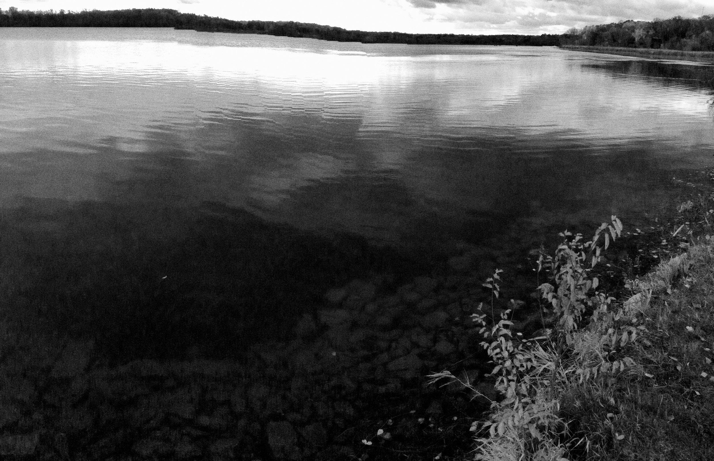Crooked. Lake Wingra. Madison, Wisconsin. November 2013. © William D. Walker