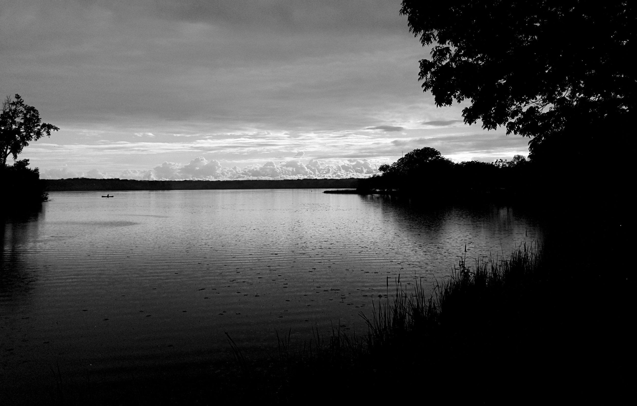 Canoe. Lake Wingra. Madison, Wisconsin. May 2017. © William D. Walker