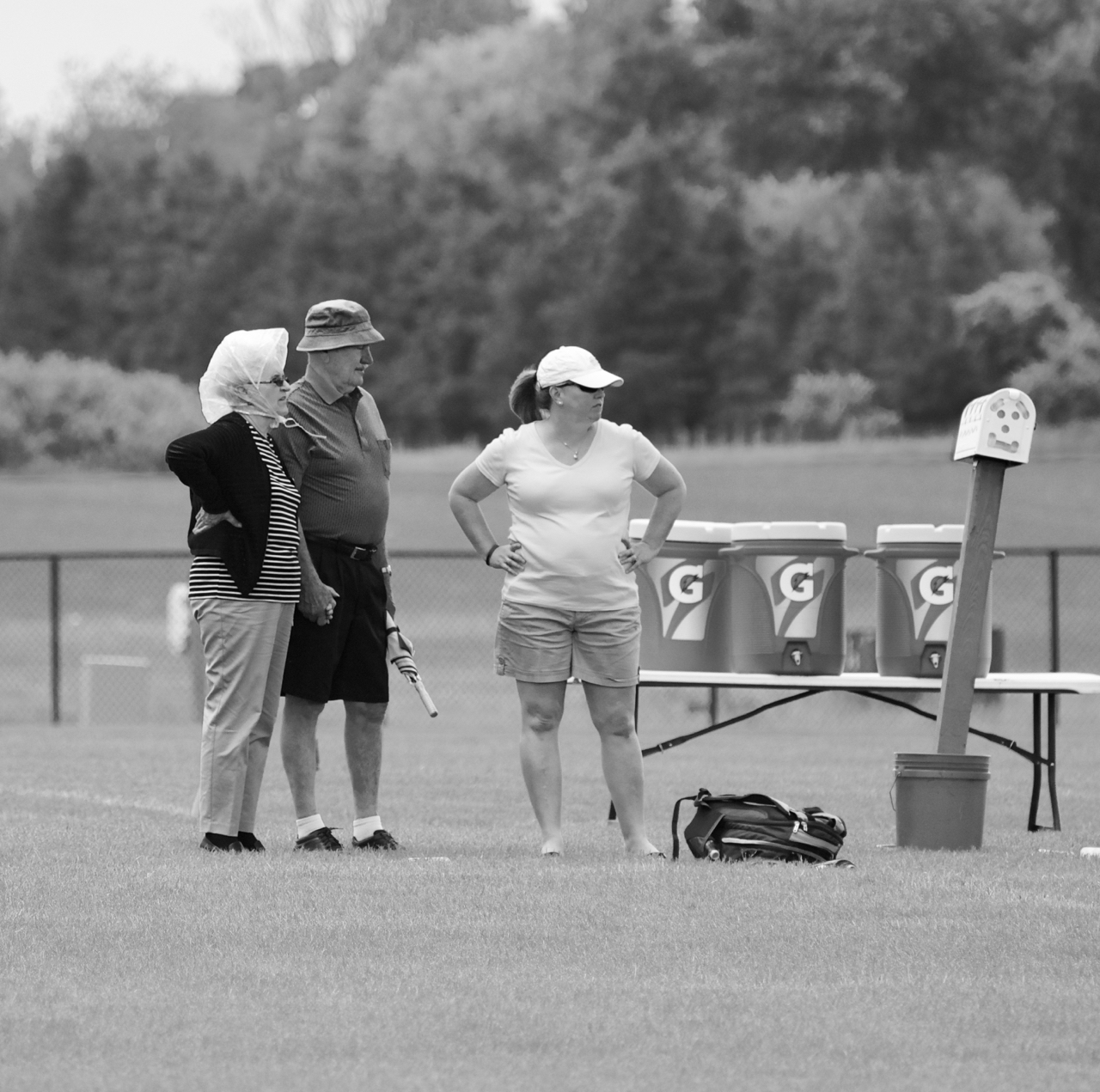 More Hats. Sportscore Two. Loves Park, Illinois. June 2017. © William D. Walker